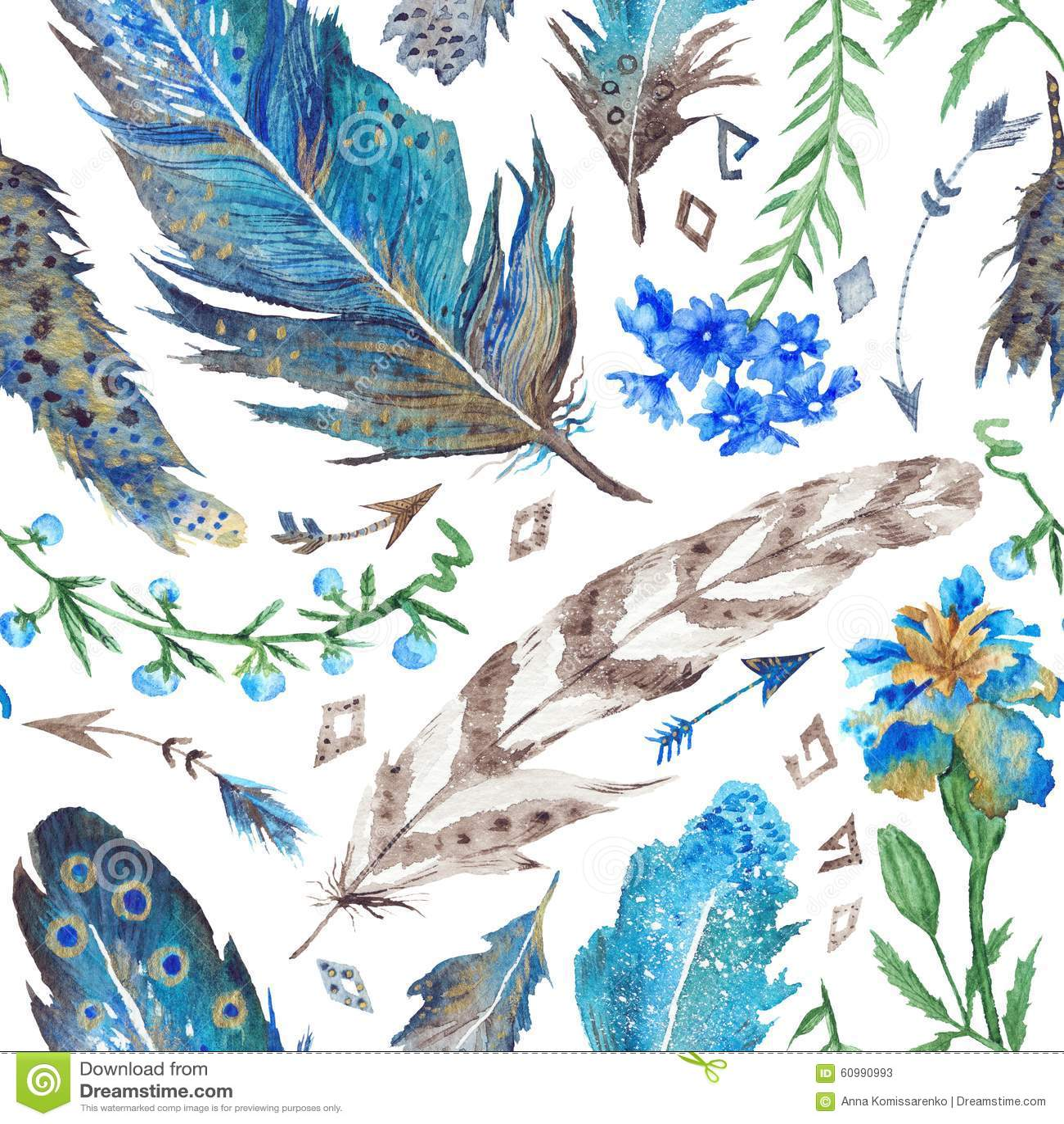 download boho aquarell muster stock abbildung illustration von braun 60990993 - Boho Muster