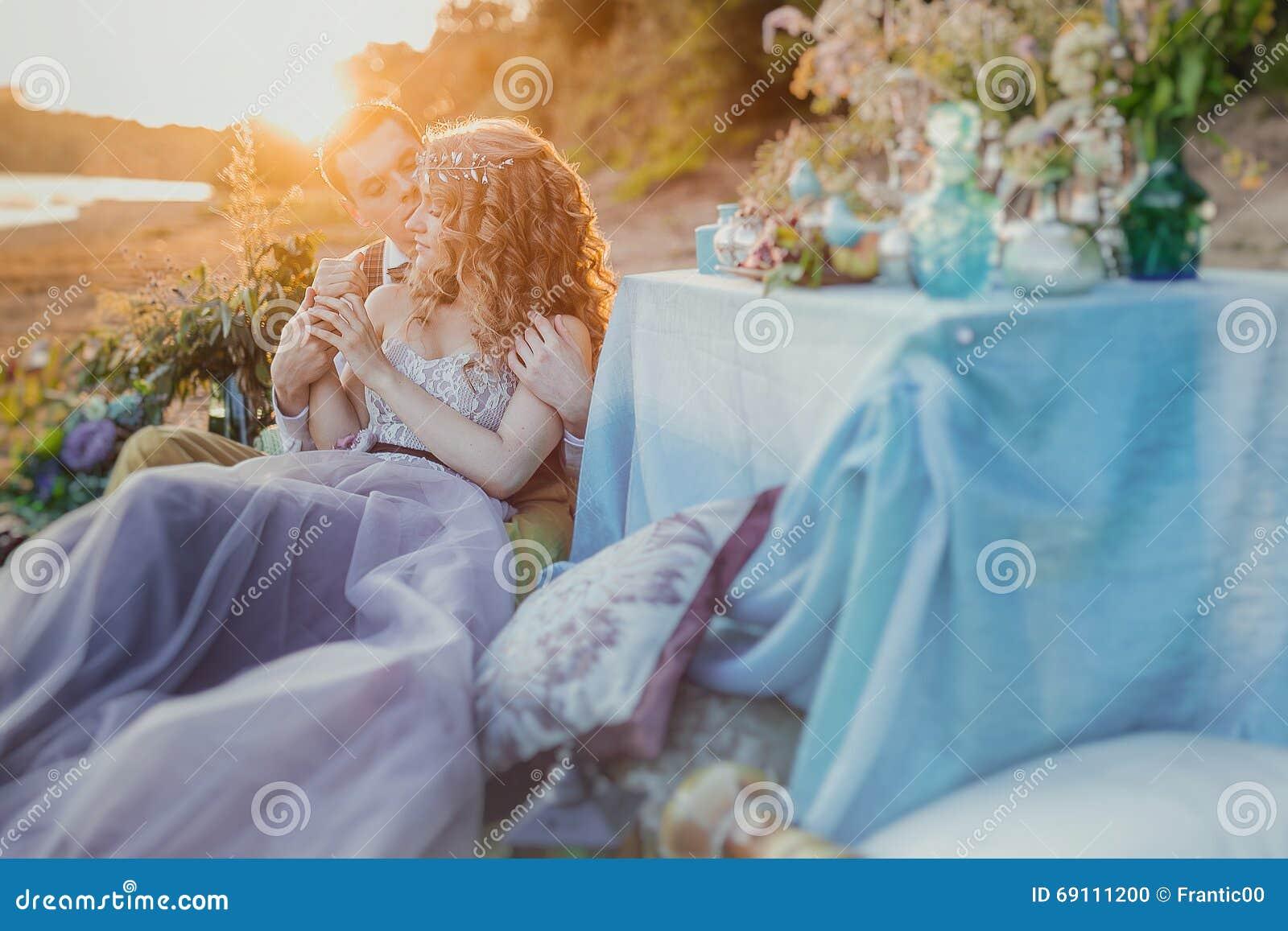 Caribbean Boho Wedding Inspiration: Boho Chic Couple In Love The Bride And Groom. Wedding