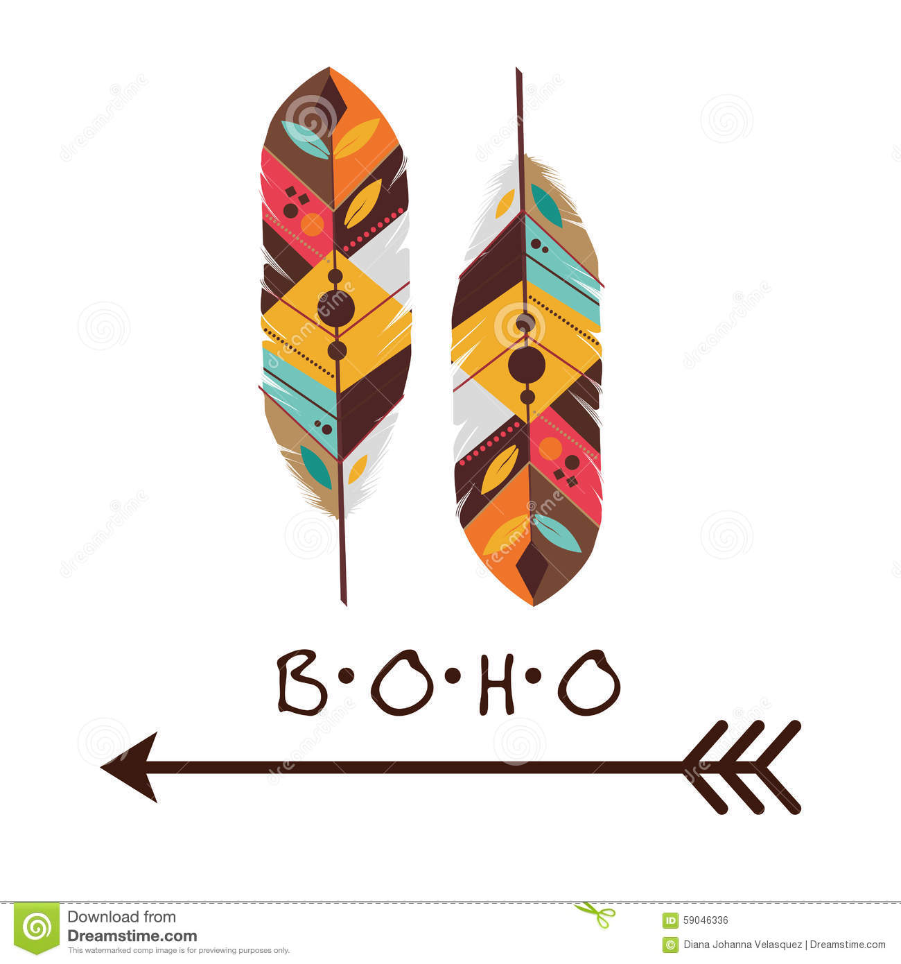 Boho Design Stock Vector Image Of Indian Sketch Spring