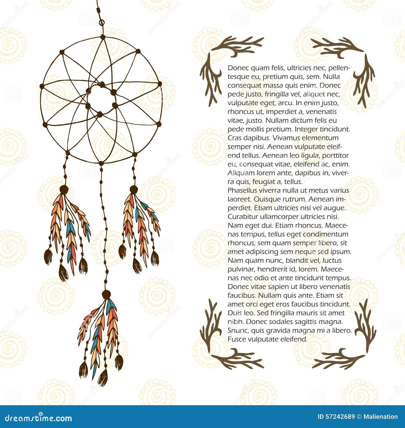 Boho Dream Catcher Vector Illustration In Ethnic Style Design