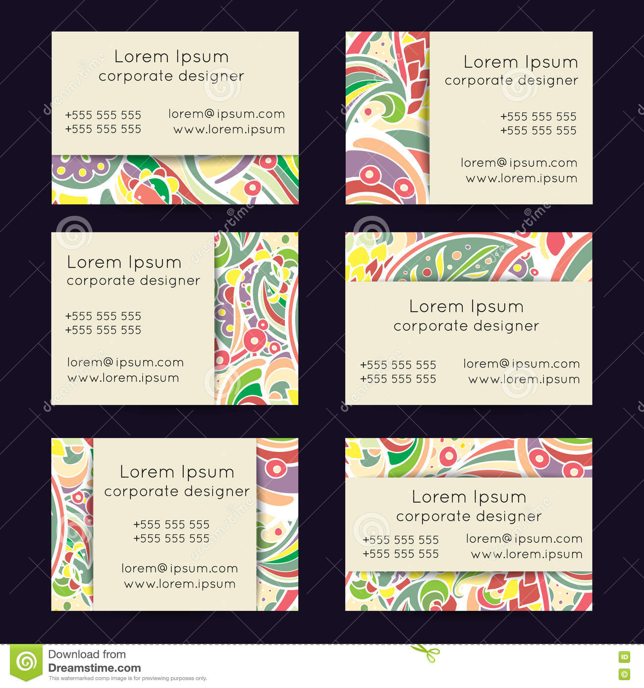 Boho paisley floral business cards templates stock vector image royalty free vector download boho paisley floral business cards magicingreecefo Images