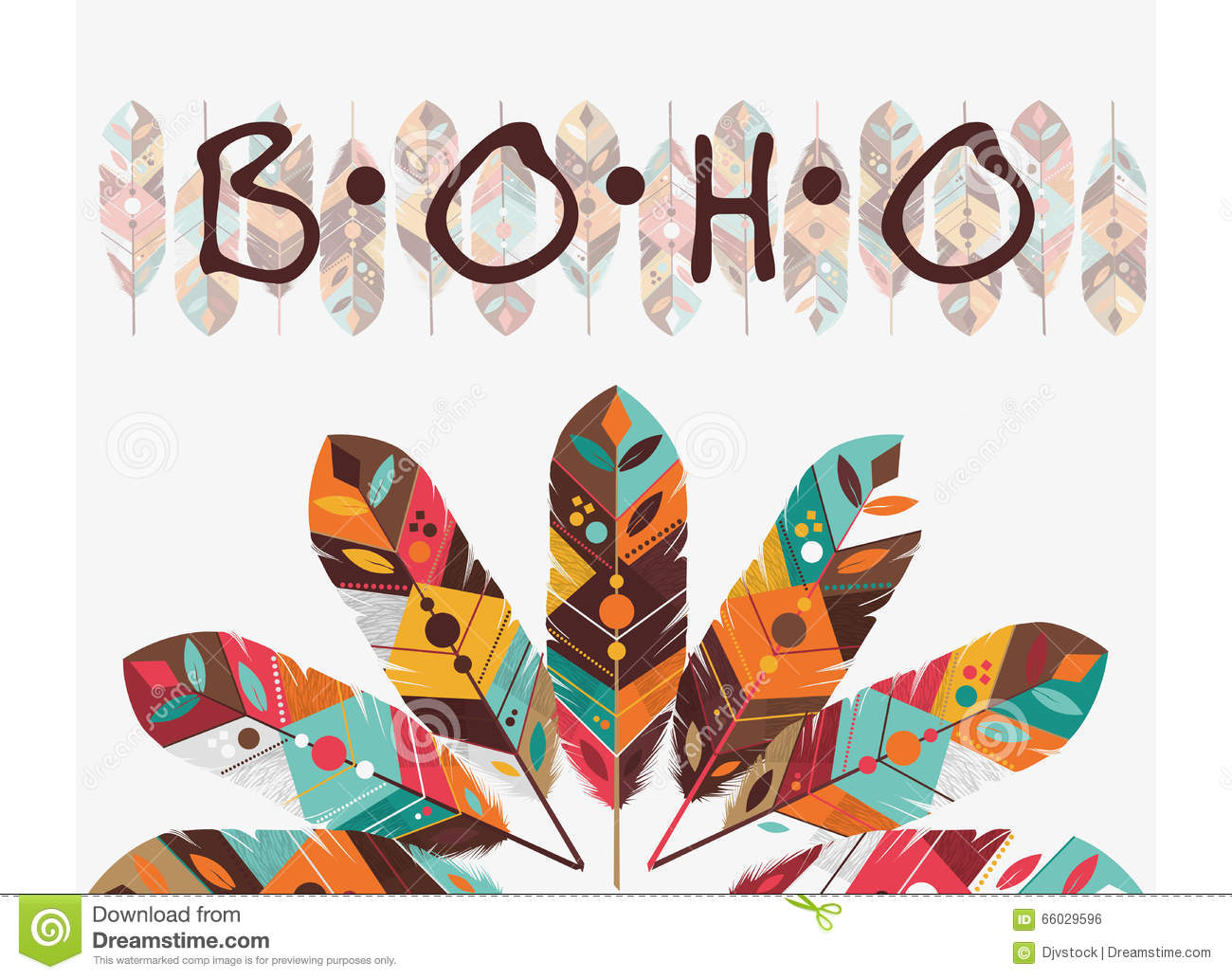 Boho Style Design Stock Vector Image Of Decoration Aztec