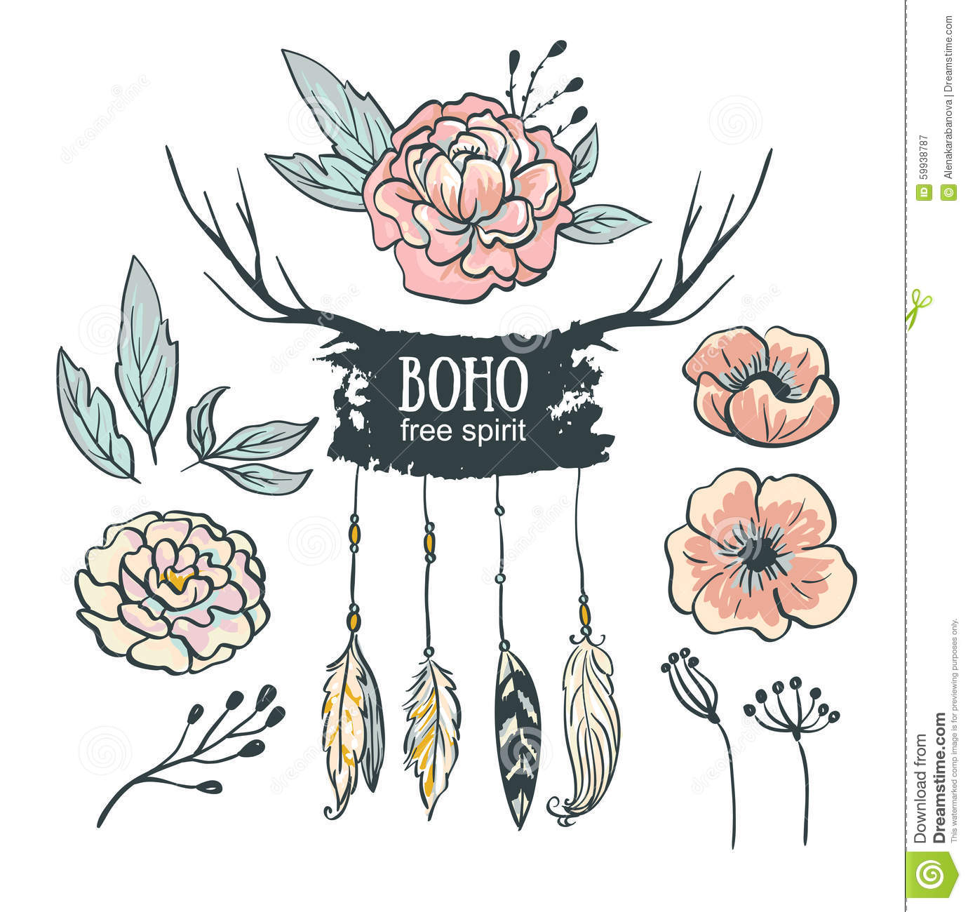 free vector green boho - photo #2