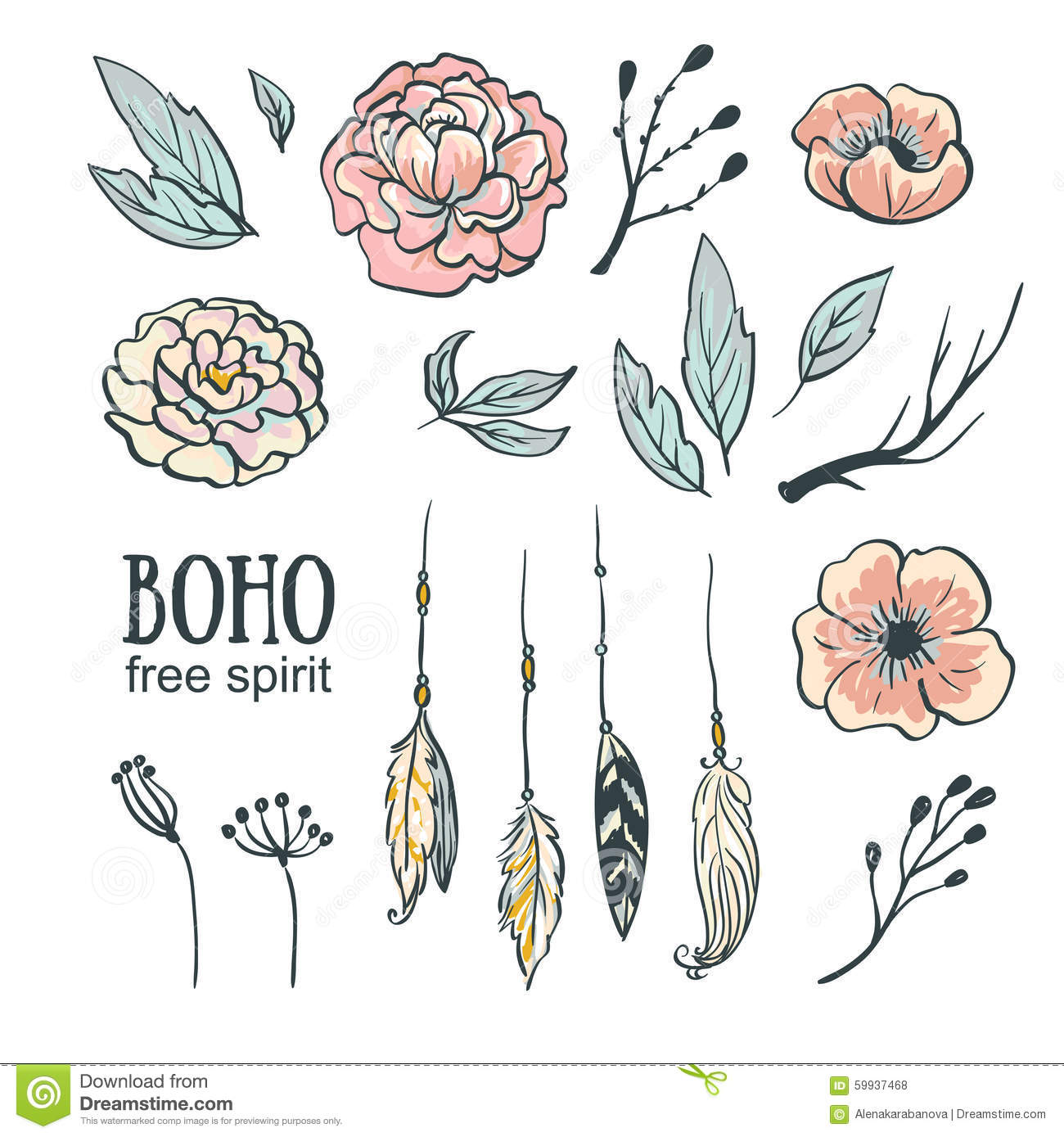free vector green boho - photo #14