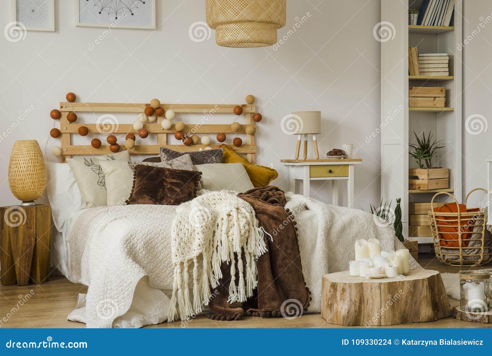 Boho Stylu Sypialni Wnętrze Zdjęcie Stock Obraz Złożonej Z