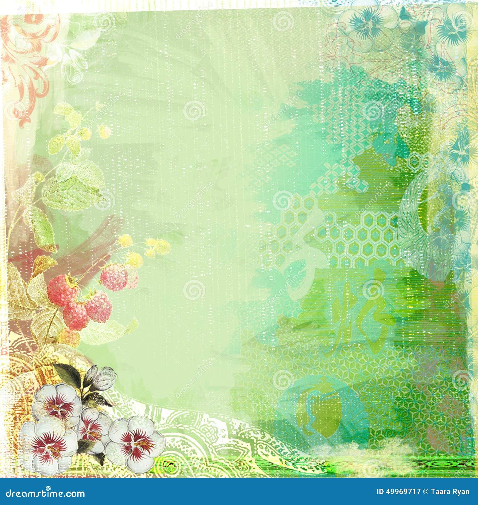 Background image 300 dpi - Boho Teatime Grunge Paper Background Green Royalty Free Stock Photography