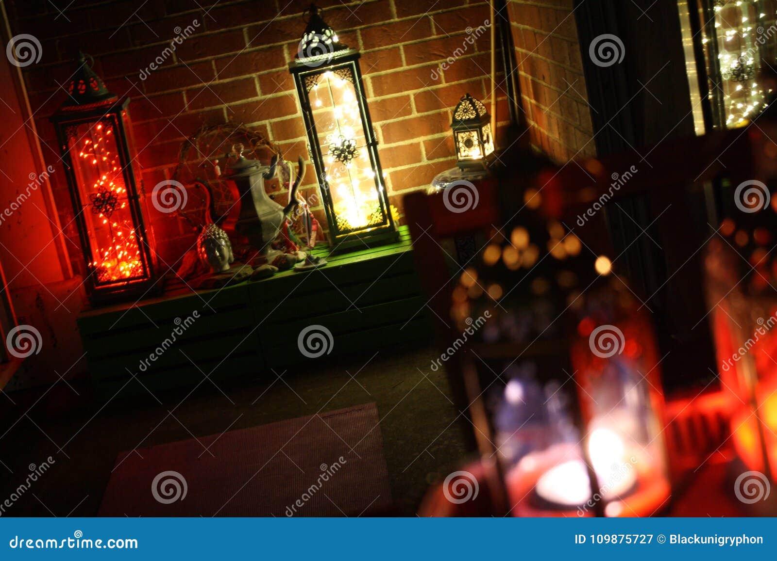 Boho wystroju lampionu n świateł Nastrojowy DOWODZONY hol