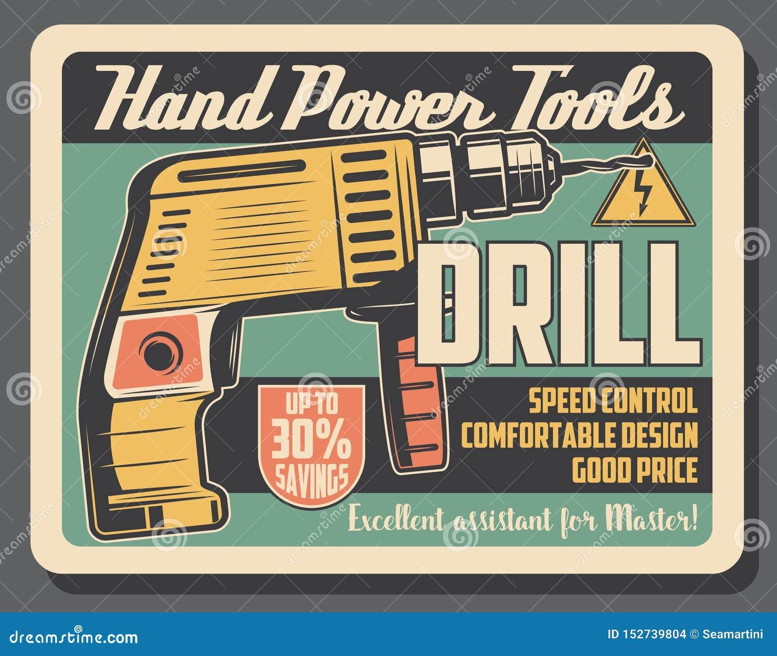 Bohrgerätwerkzeug, Handelektrische Ausrüstung, Warnzeichen