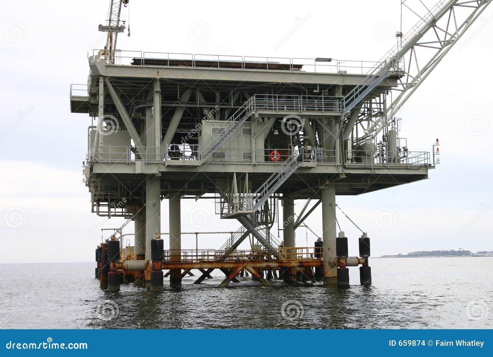 Bohrinsel im Golf von Mexiko