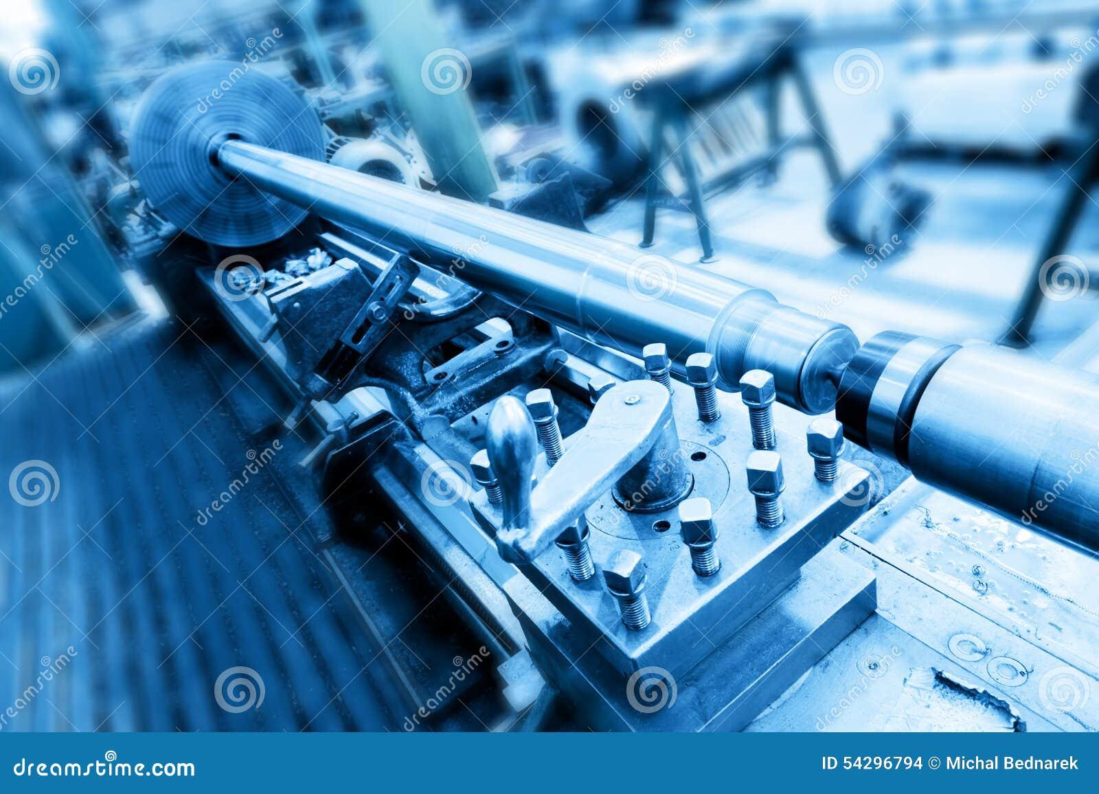 Bohrungs-, Bohren und Fräsmaschine in der Werkstatt Industrie, industriell