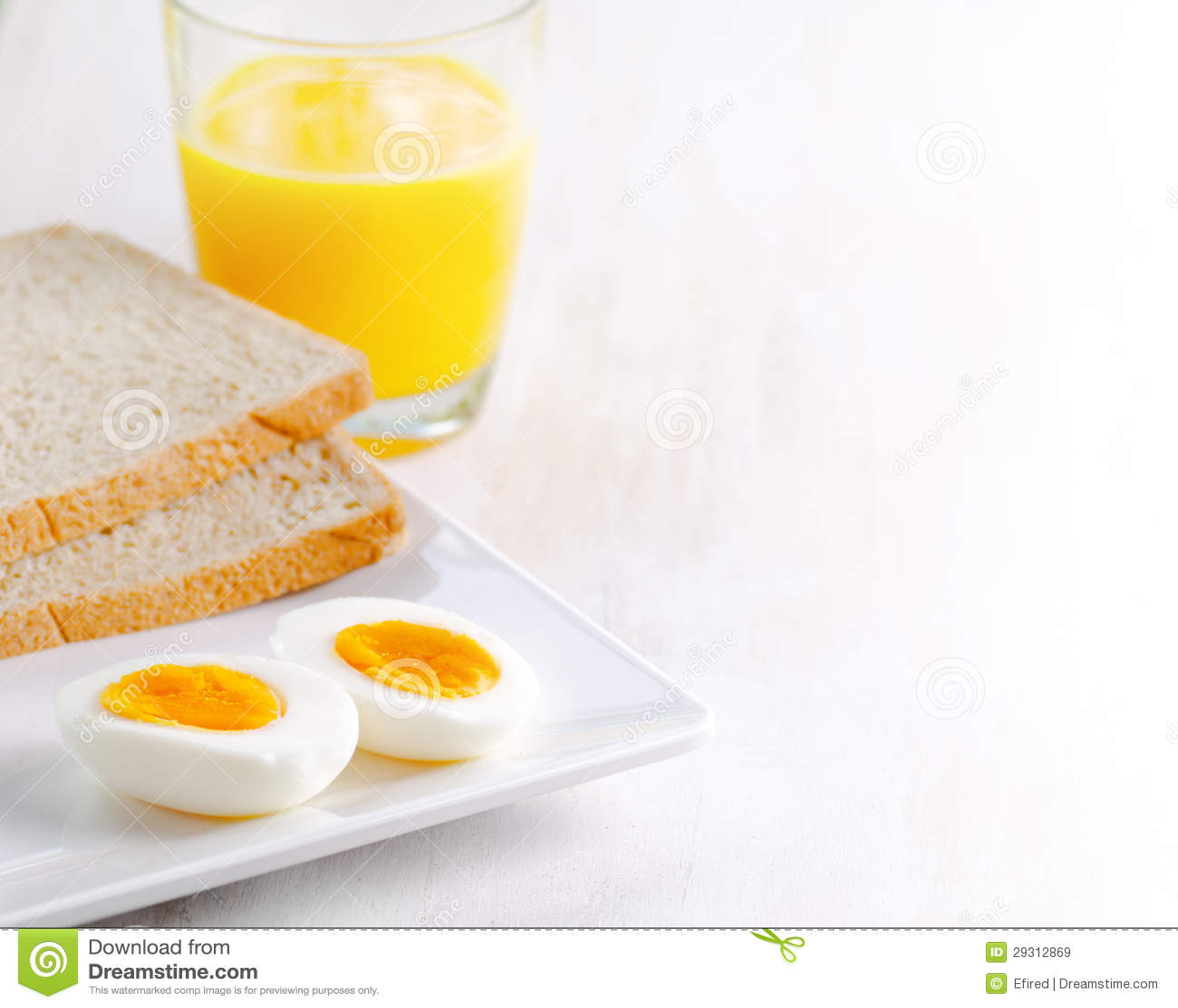 Boiled Egg, Toasts And Orange Juice Royalty Free Stock ...