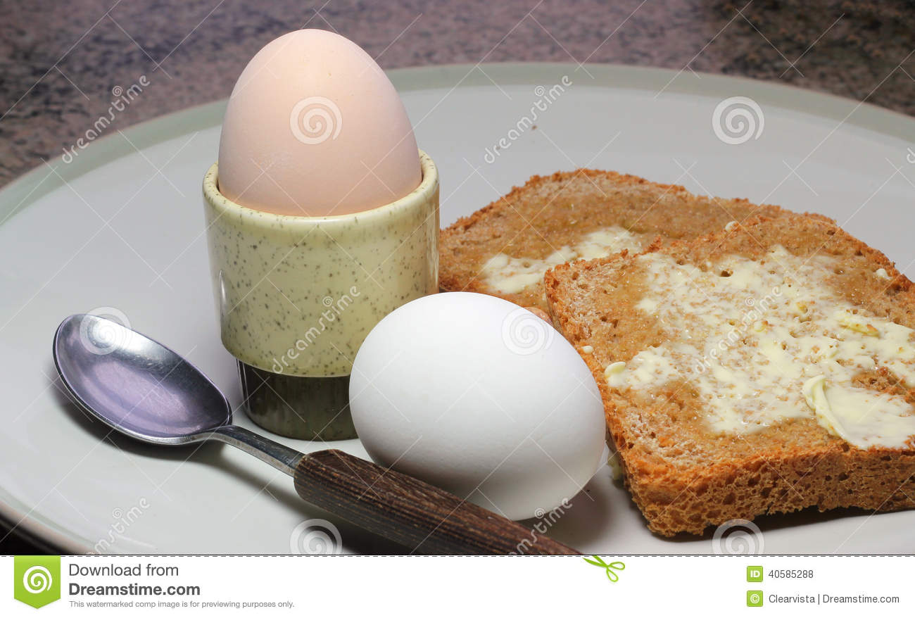 Boiled Eggs In Egg Cup And Toast Stock Photo Image: 40585288 Boiled Eggs In  Egg