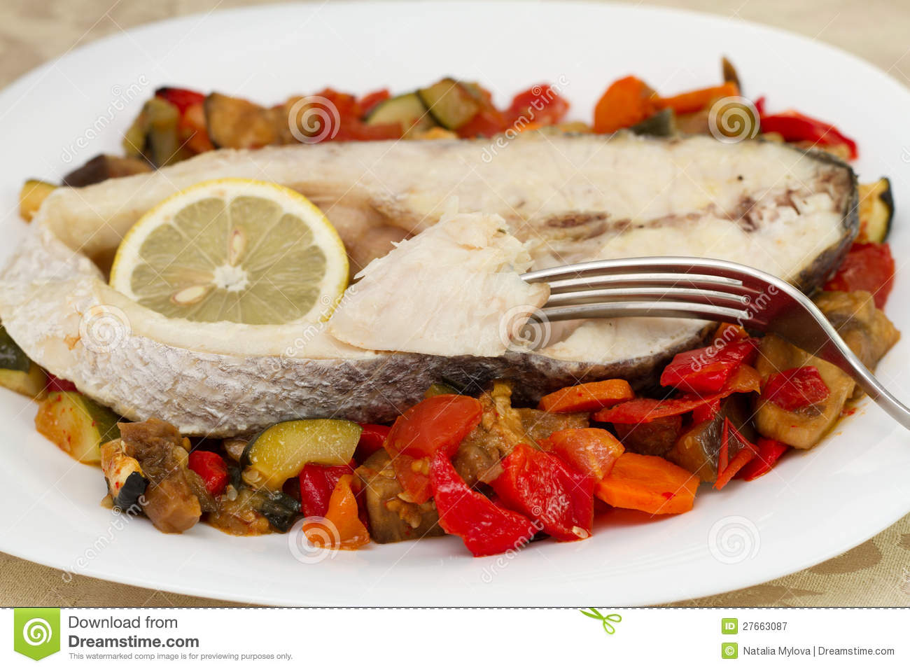 Boiled fish with vegetables royalty free stock photography for What vegetables go with fish