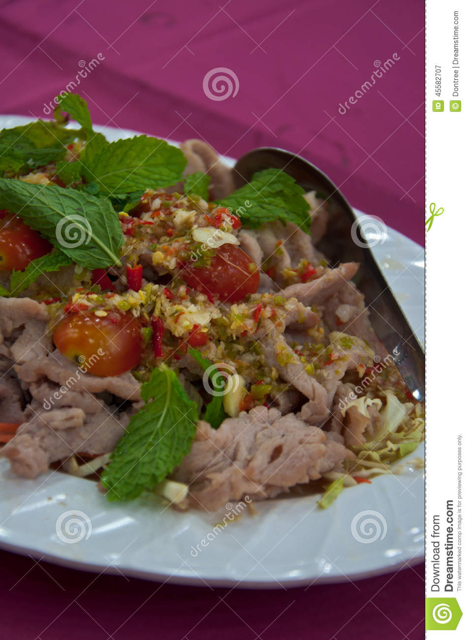 ... lemon - spicy with pork and lemon menu - yum spicy pork with lemon