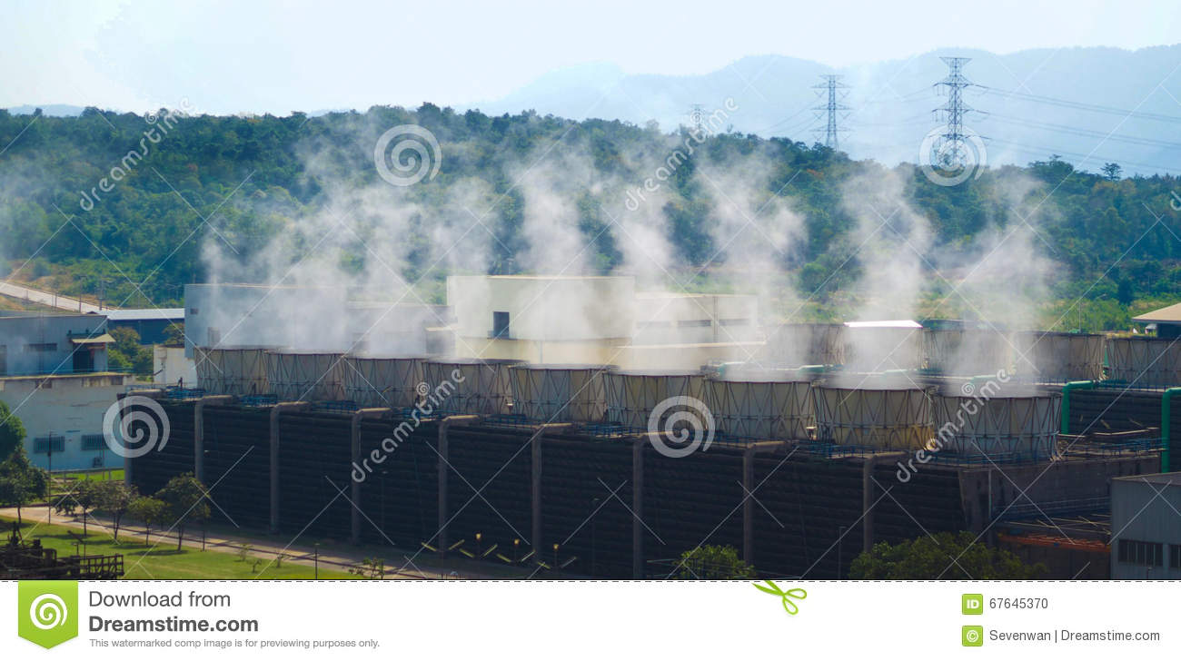 Boiler Of Power Plant Is Working. Stock Photo - Image of industry ...
