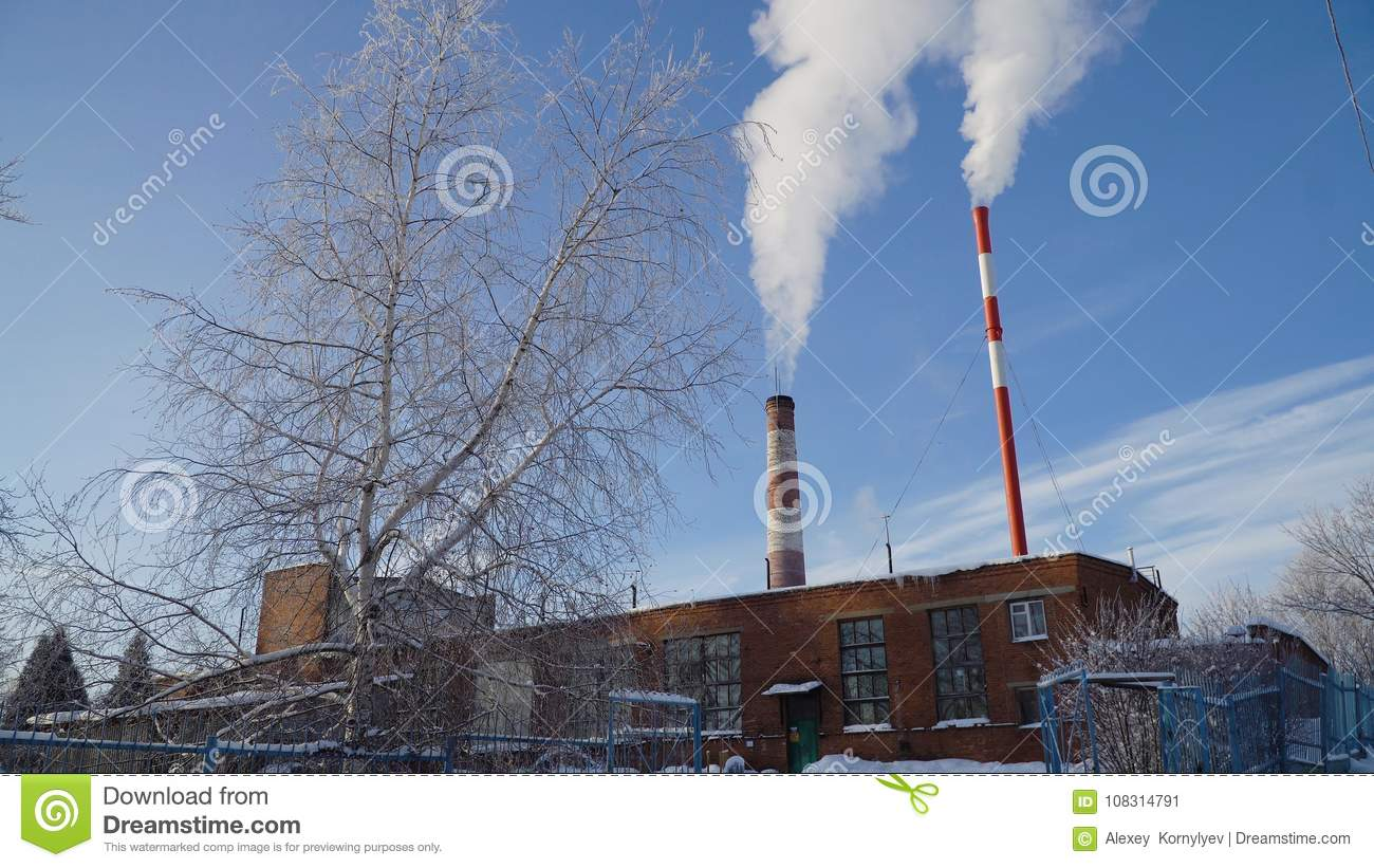 Thermal Power Plant, Boiler House. Stock Image - Image of forest ...