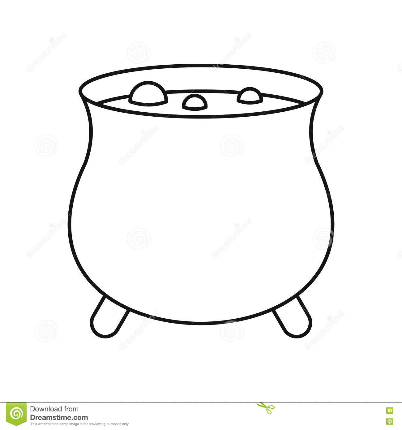 Boiler sorcerer icon outline style stock vector image for Decor outline