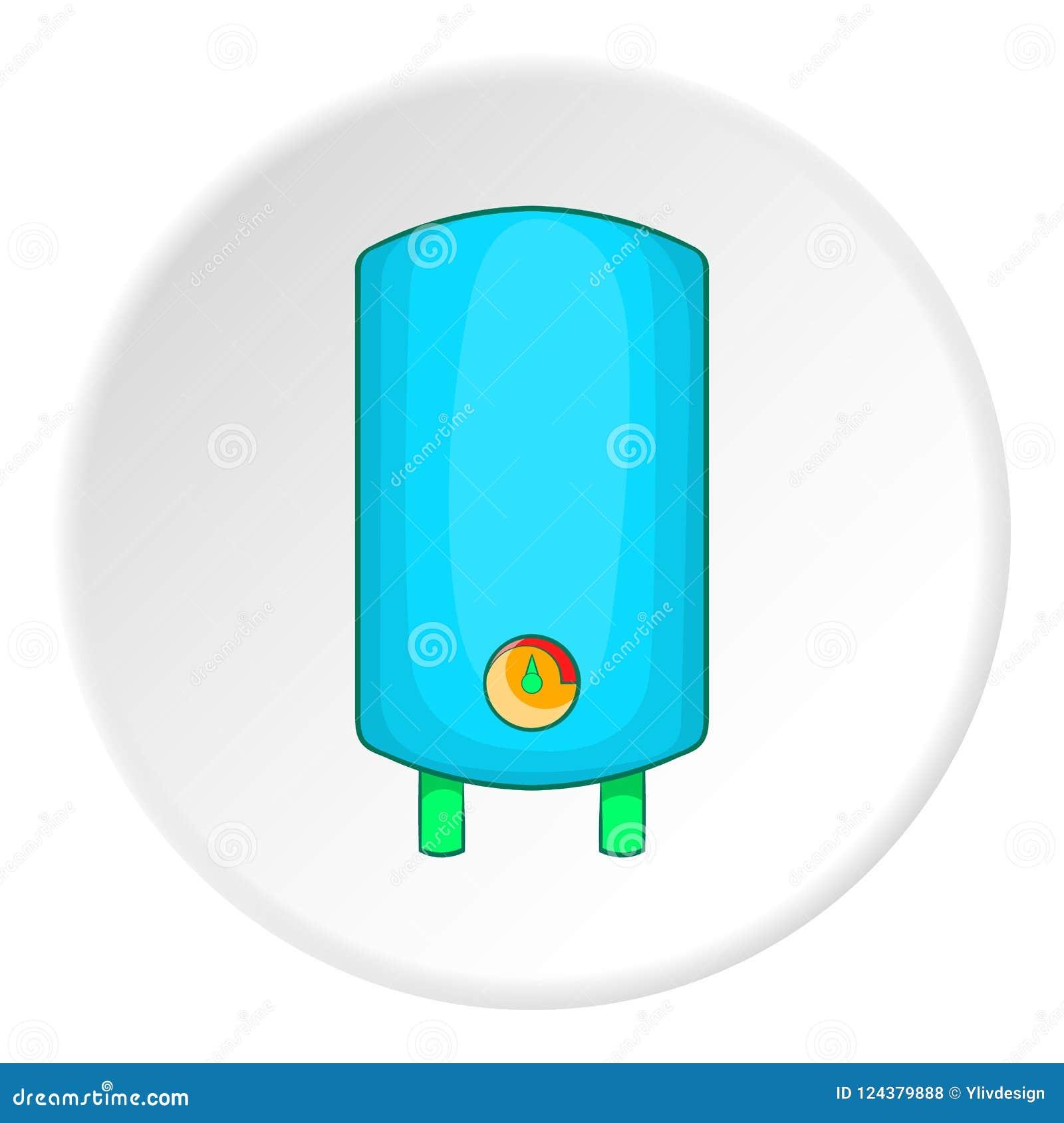 Boiler Or Water Heater Icon, Cartoon Style Stock Illustration ...