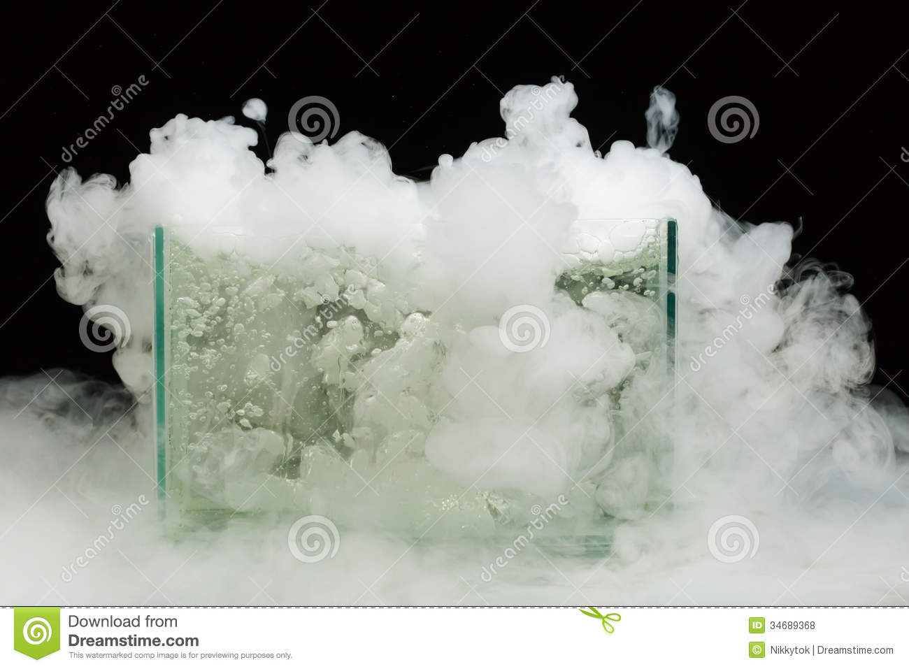 boiling dry ice royalty free stock photos