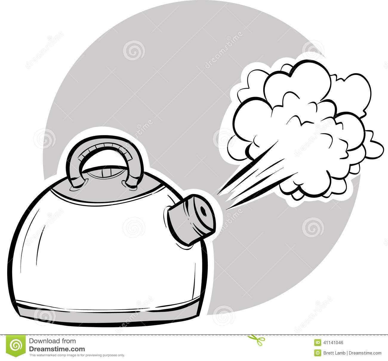 Kettle Steam Clipart Boiling Kettle