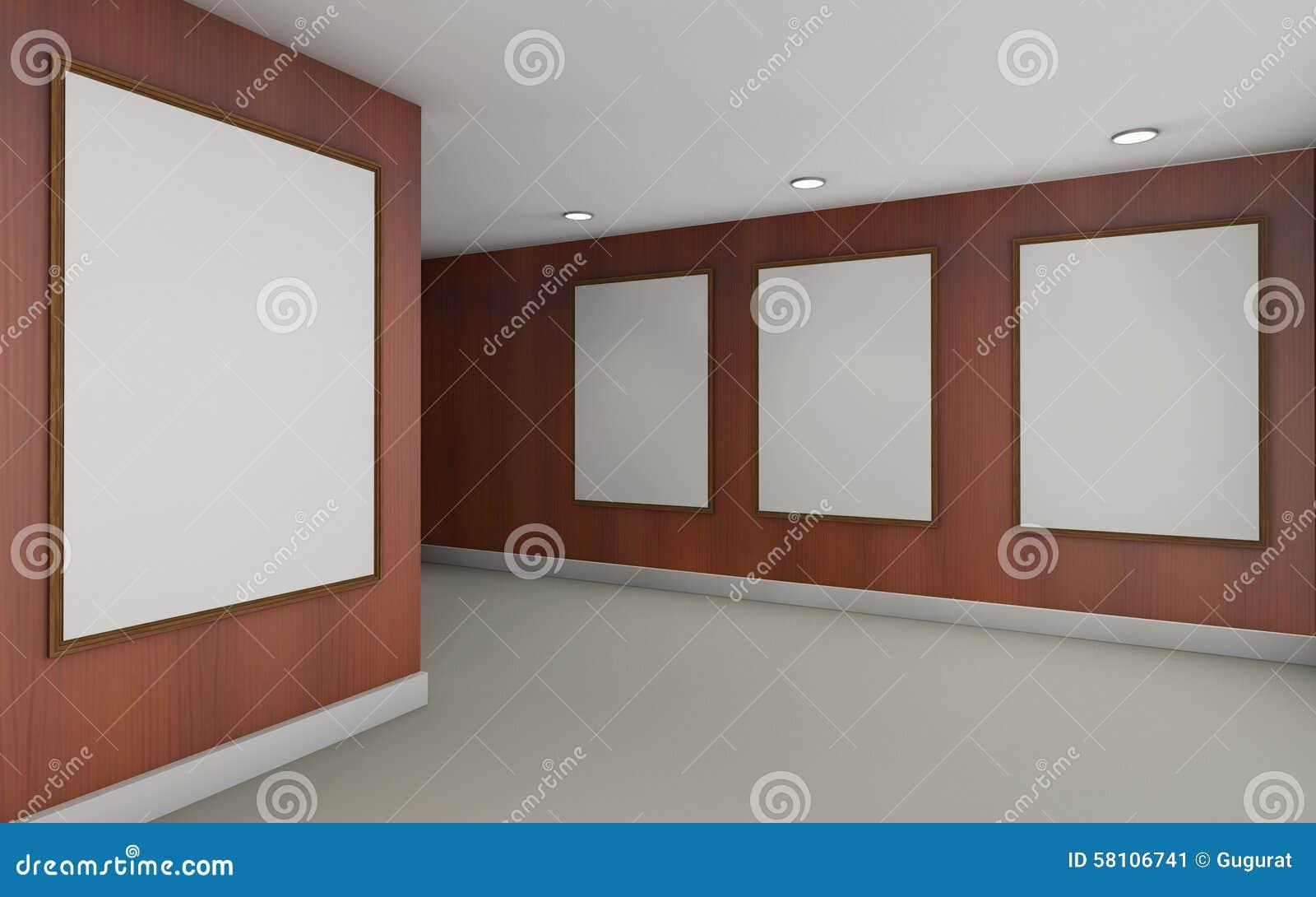 Bois d 39 art gallery perspective et de mur de cadre de for Image de cadre de tableau