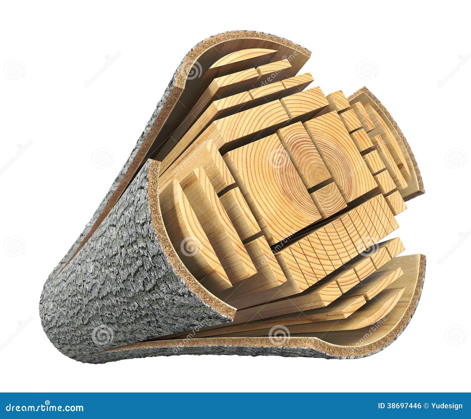 bois de charpente du rondin illustration stock illustration du fractionnement isolement 38697446. Black Bedroom Furniture Sets. Home Design Ideas