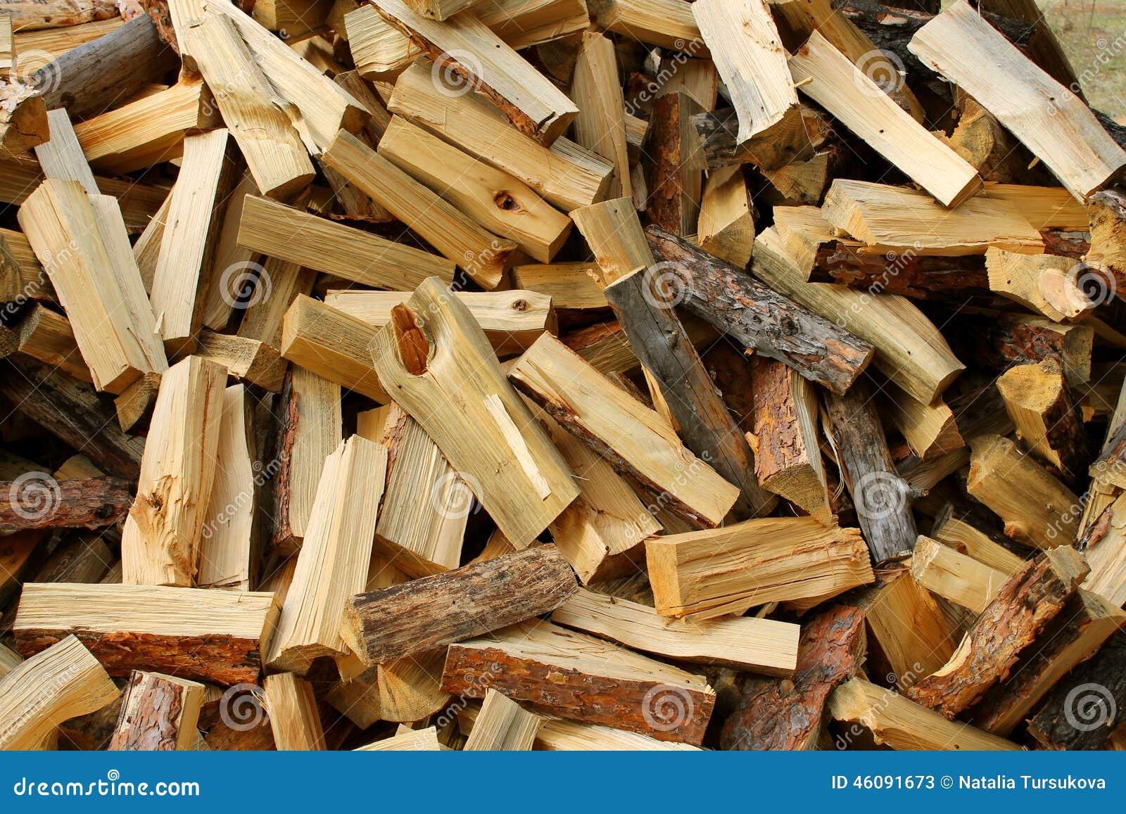 Bois de chauffage de pin photo stock image 46091673 - Bois de chauffage peuplier ...