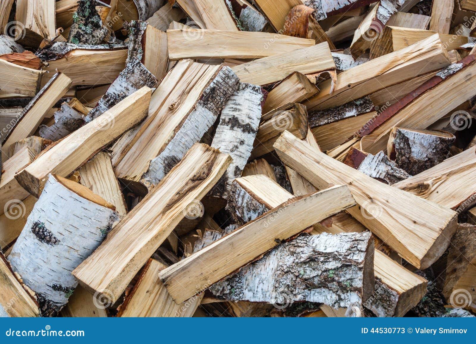 Bois de chauffage fendu de bouleau image stock image - Bois de chauffage peuplier ...