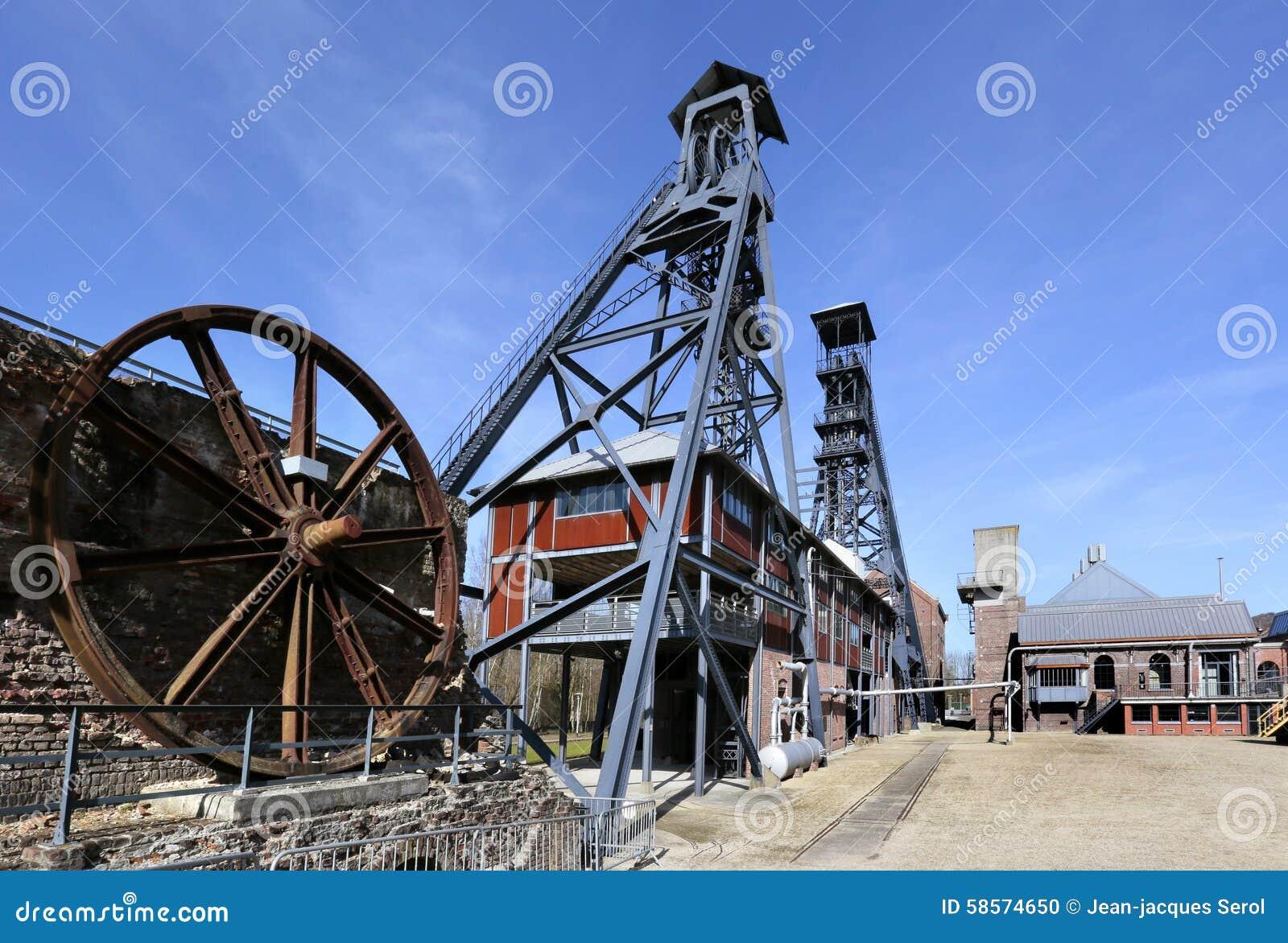 Bois Du Cazier, poprzednia kopalnia węgla, Marcinelle, Charleroi, Belgia