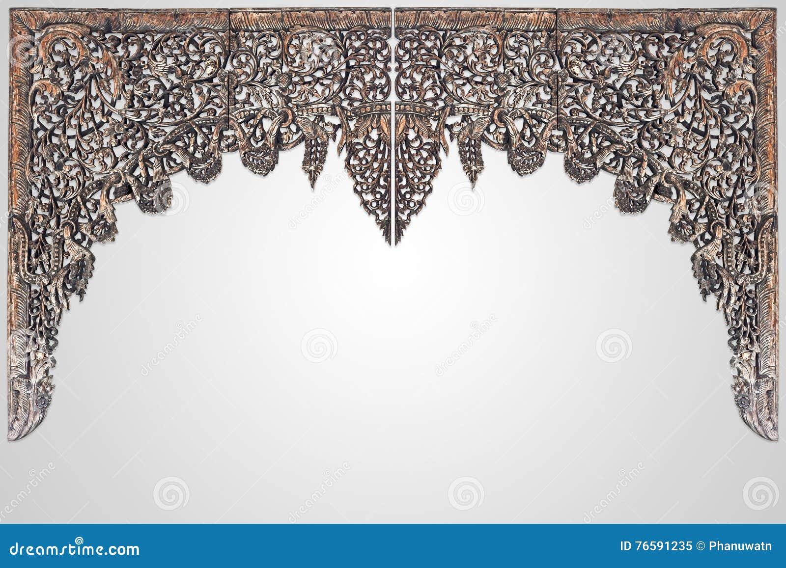 bois thalandais traditionnel de style dcoupant pour l isolant de dcoration intrieure