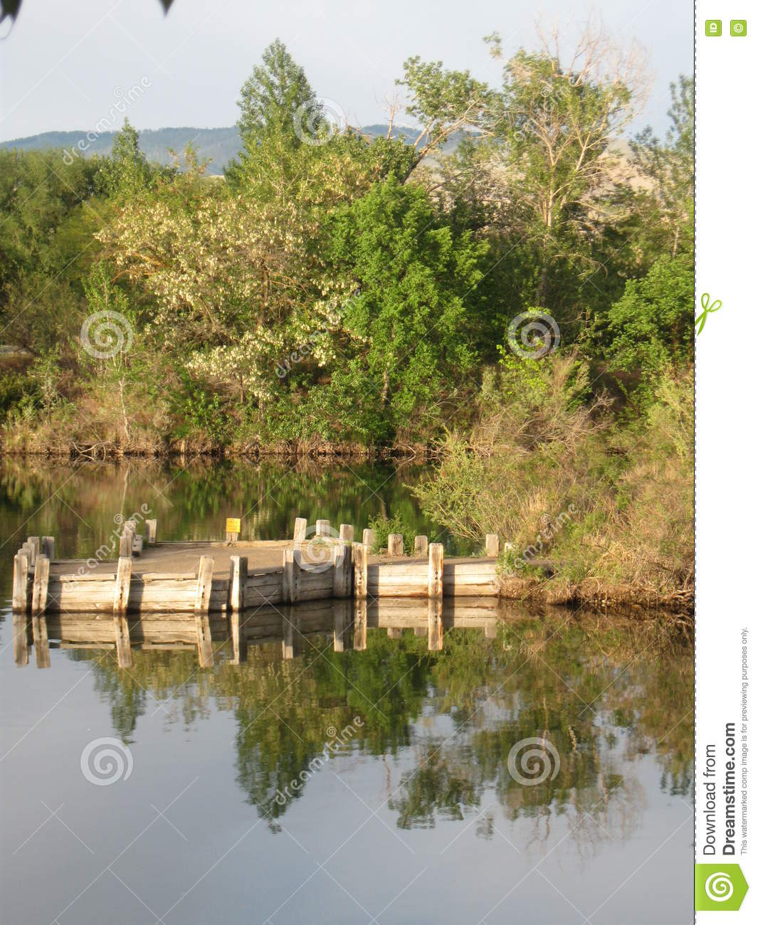 Boise Cascade Lake dock and reflections