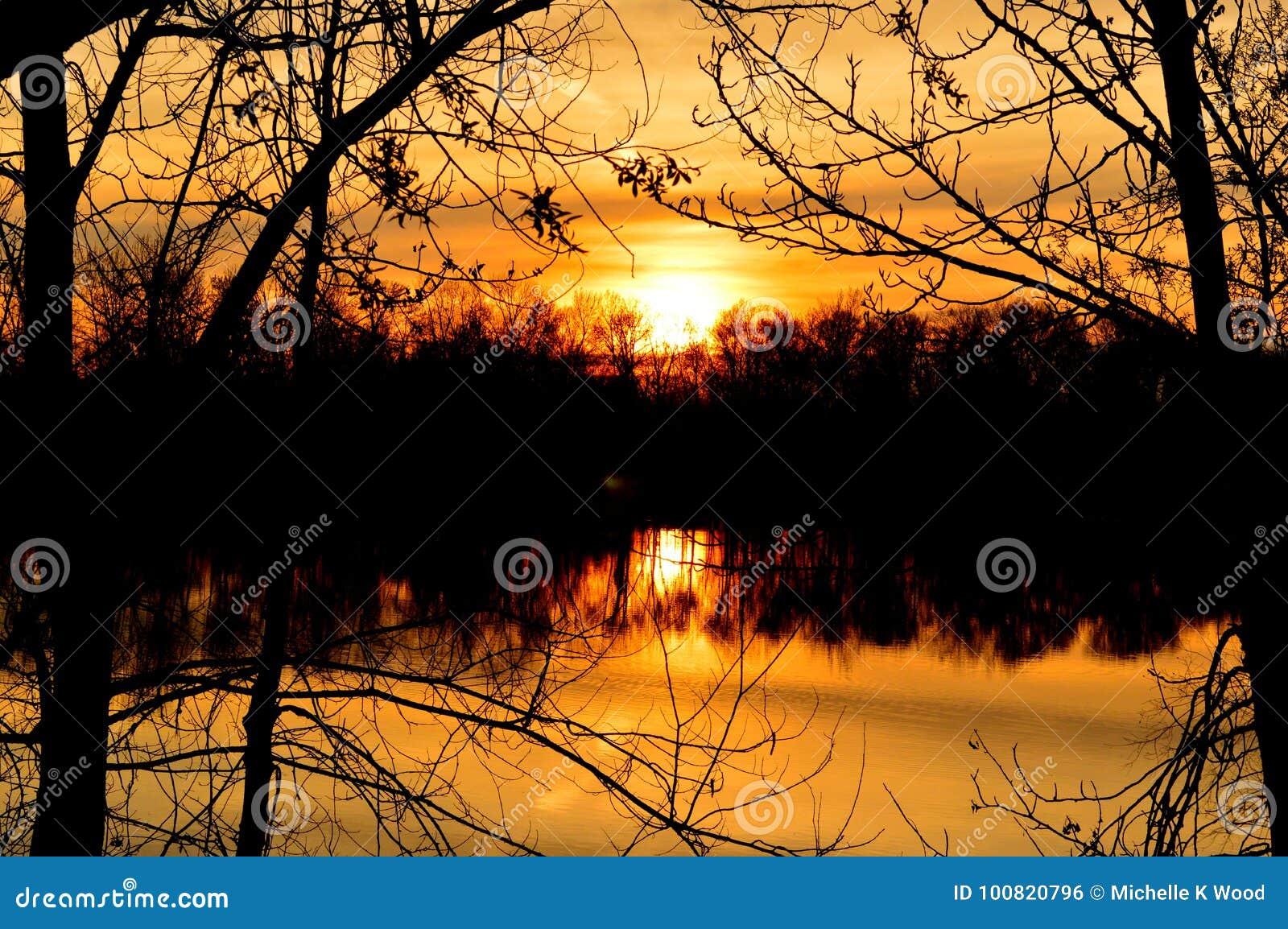 Boise River Sunset 1