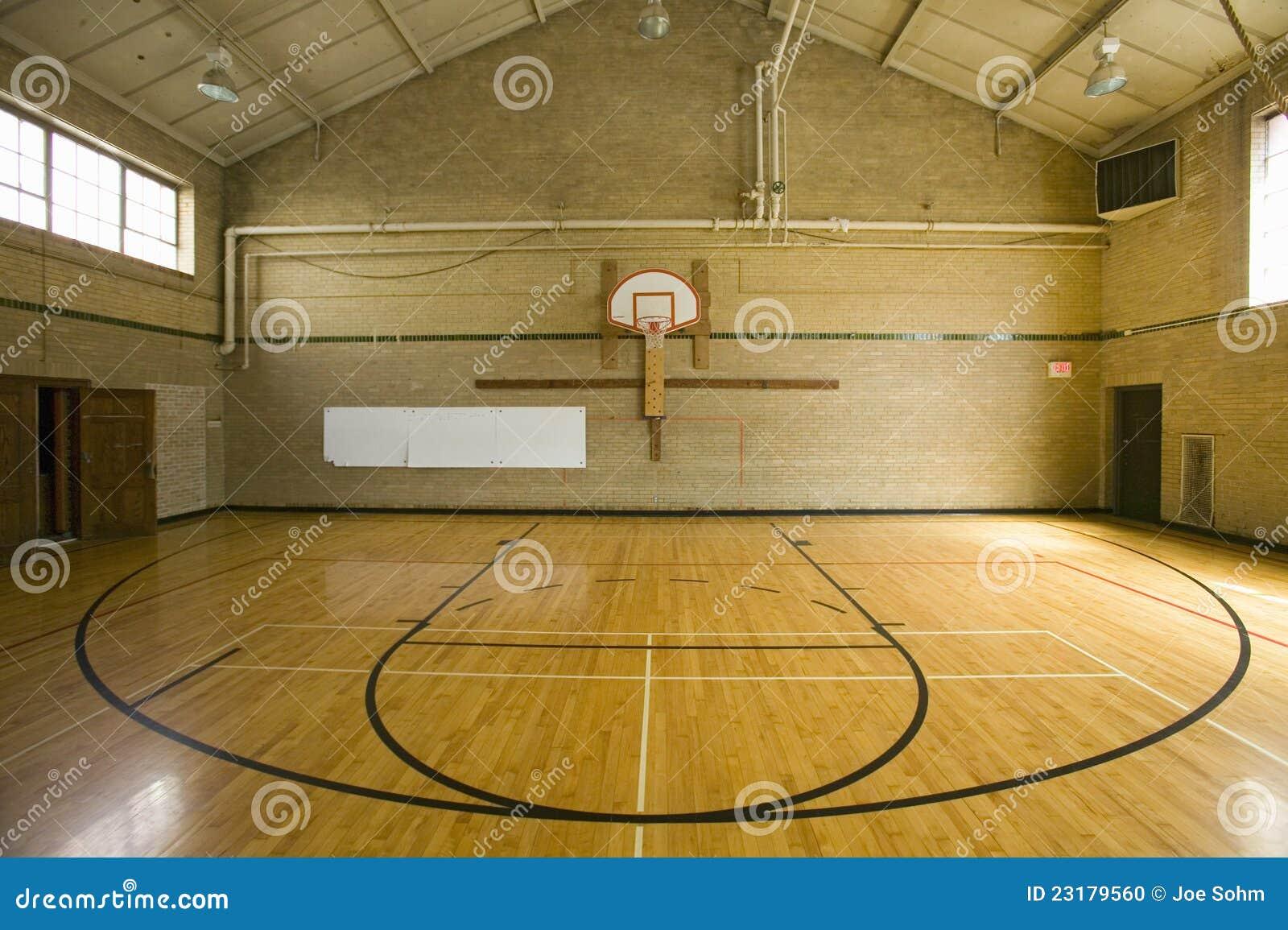 Boisko do koszykówki szkoła średnia
