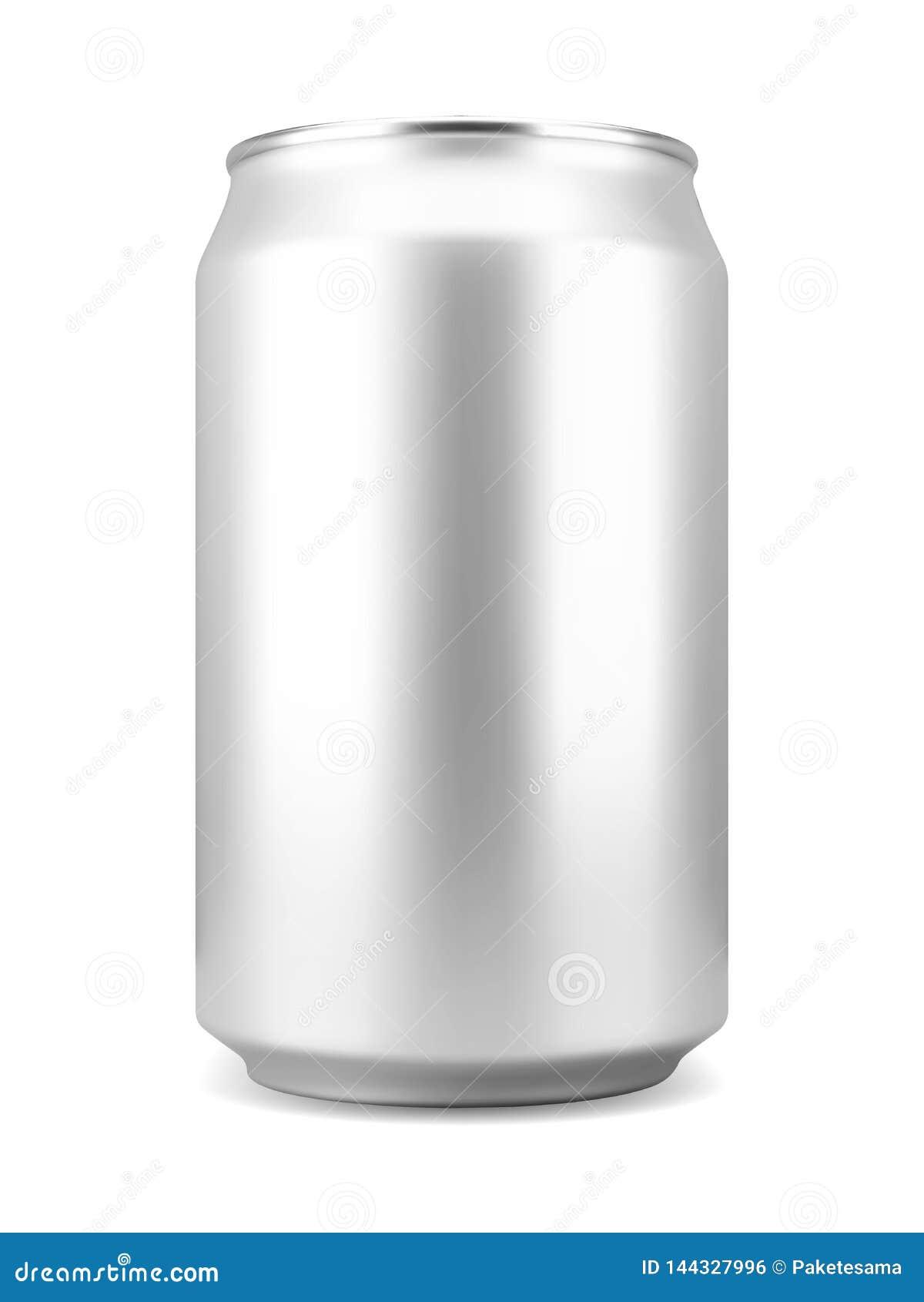 Boisson non alcoolisée ou canette de bière en aluminium réaliste