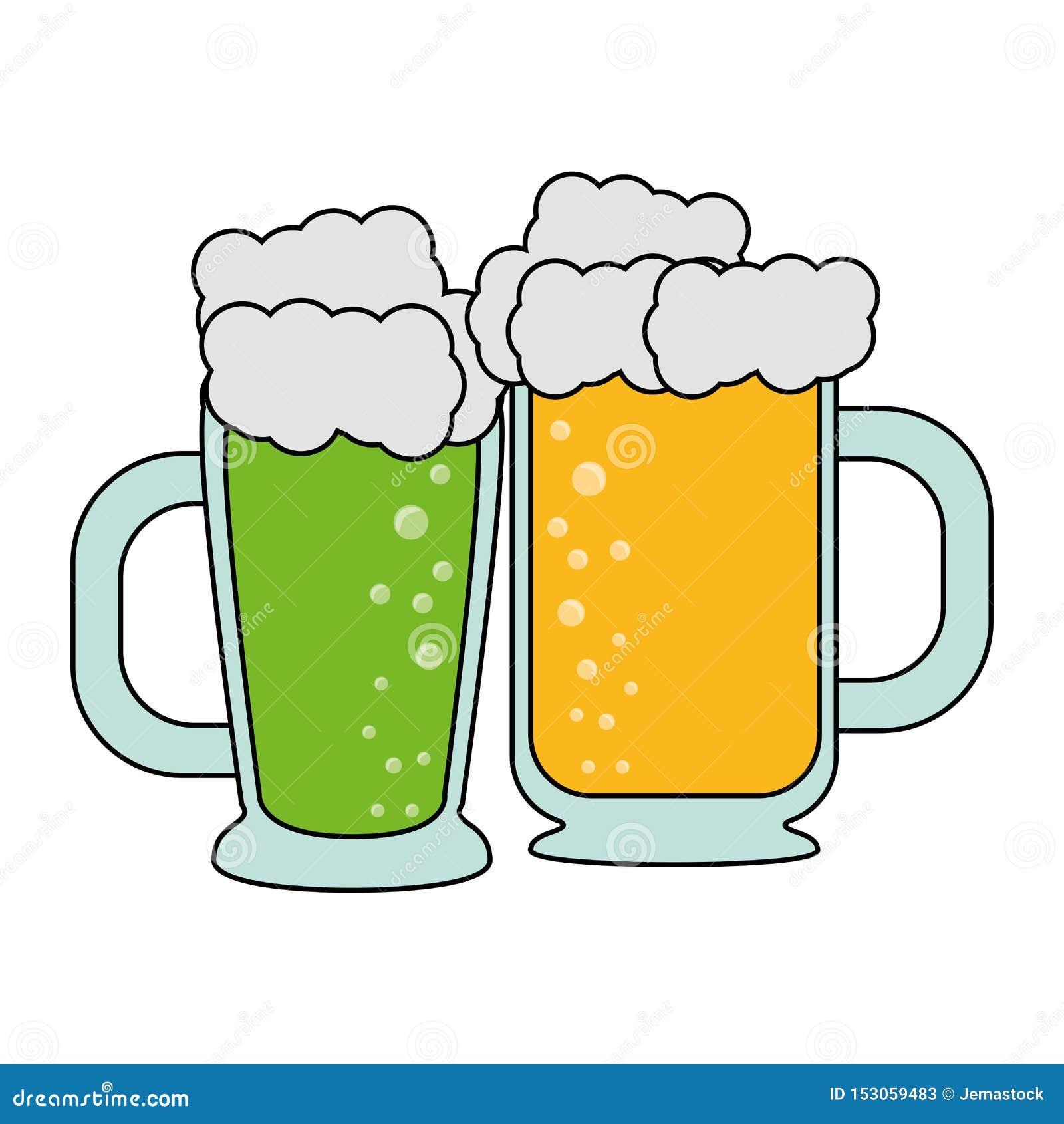 Boissons alcoolisées fraîches en verre de bière
