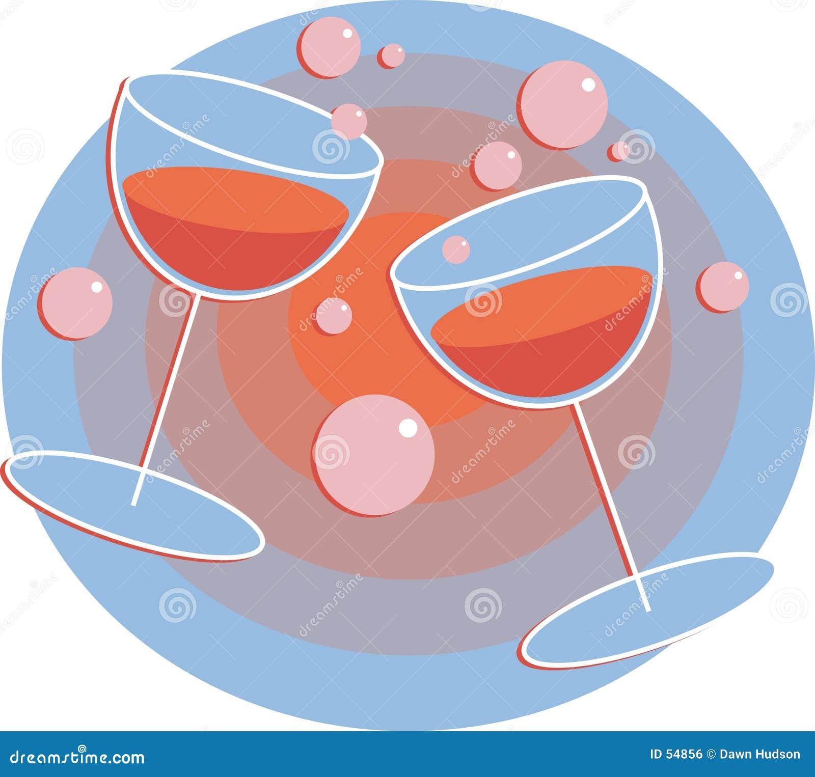 Download Boissons de réception illustration de vecteur. Illustration du romantique - 54856