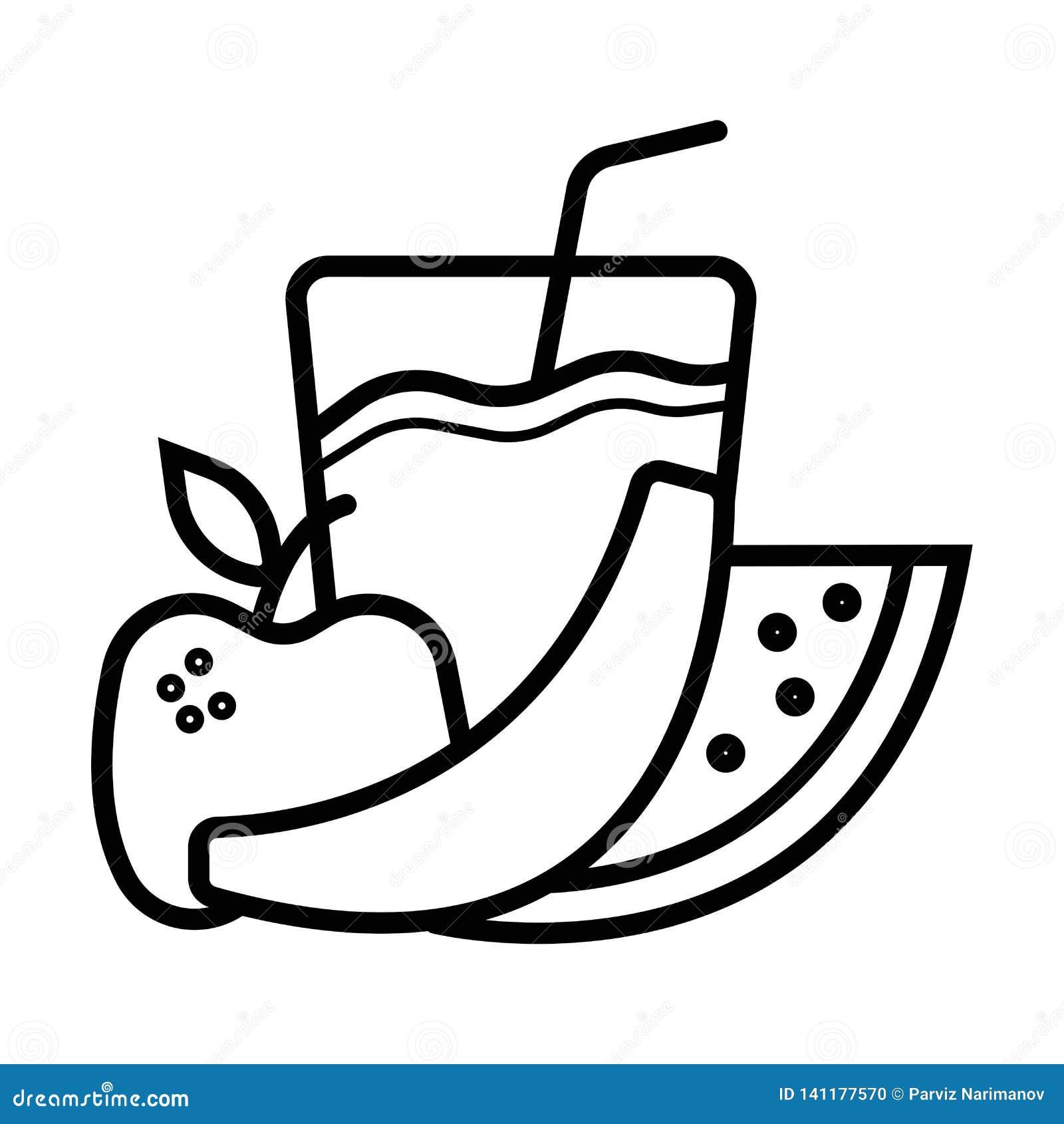 Boissons long de cocktail de fruit frais en verre du meilleur été et icône plate de milkshakes