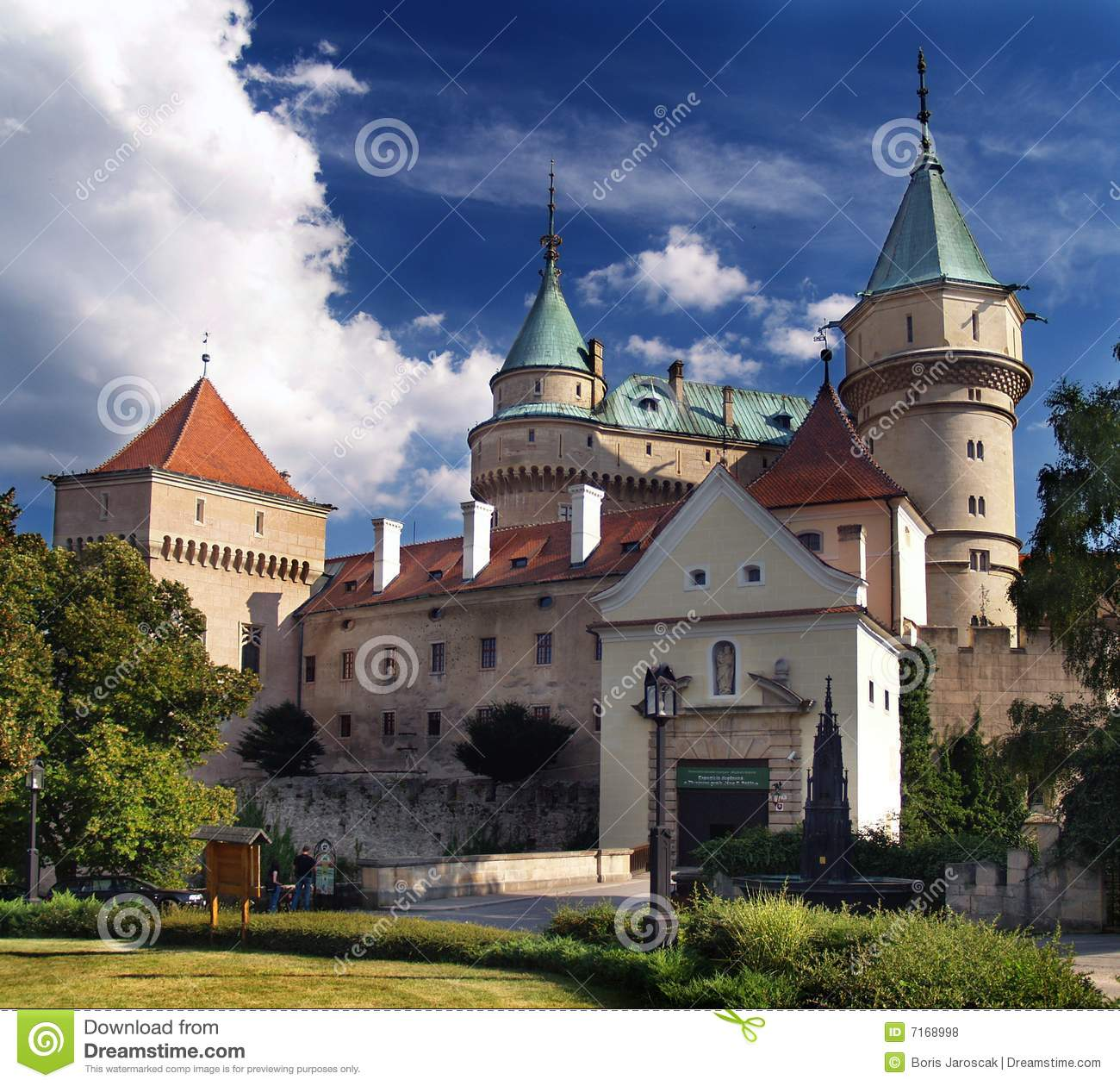Bojnice castle - Entrance