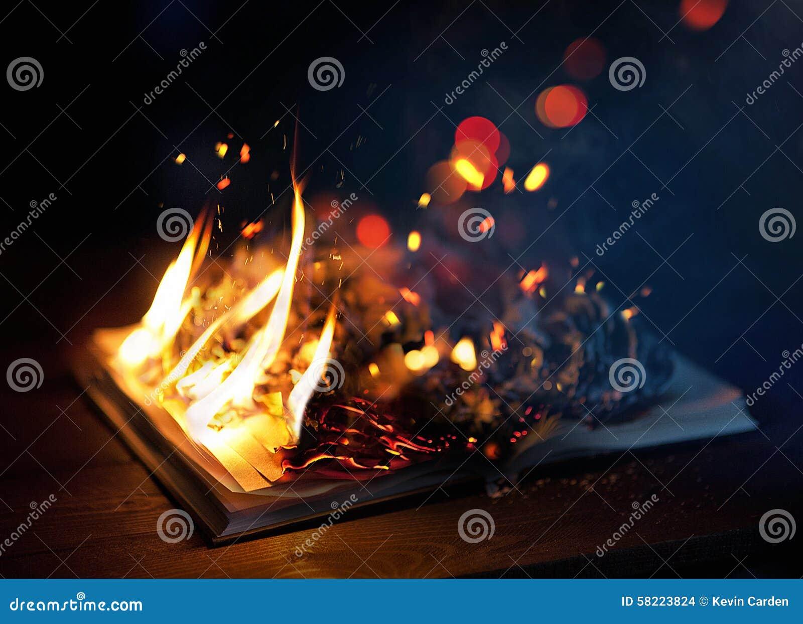 Bok på brand