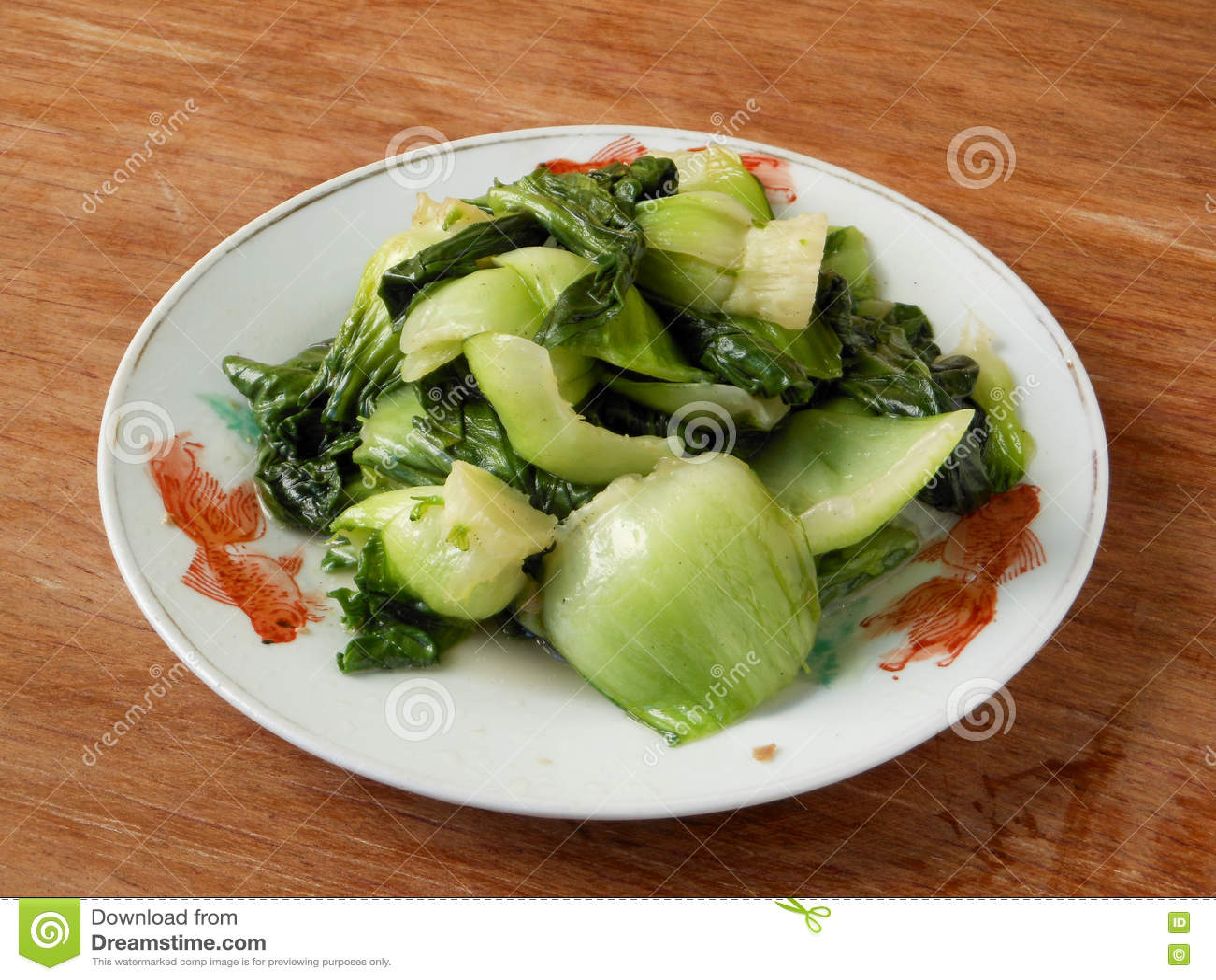 Bok vegetal chinês cozinhado choy