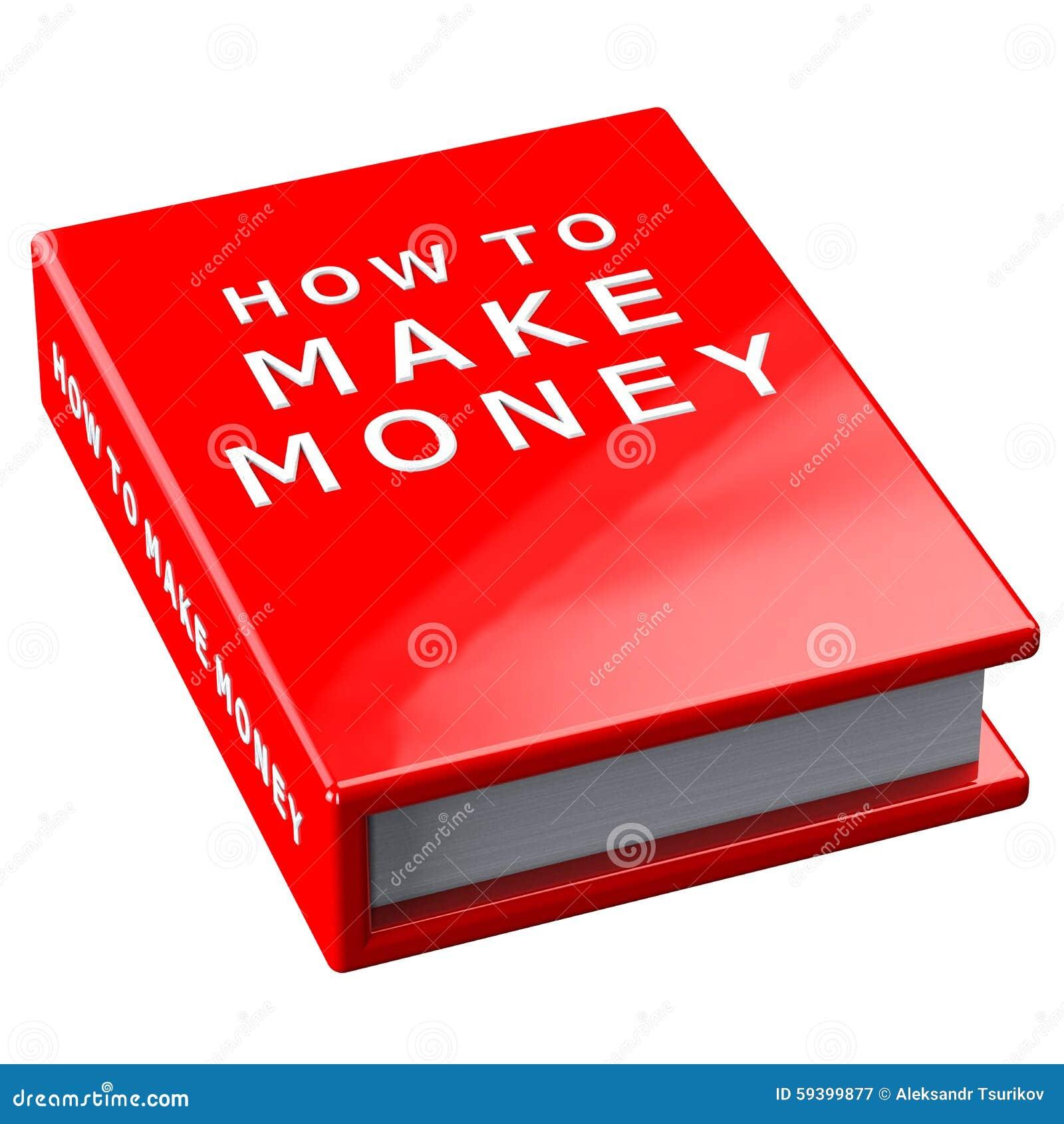 Boka hur man gör pengar på vit bakgrund