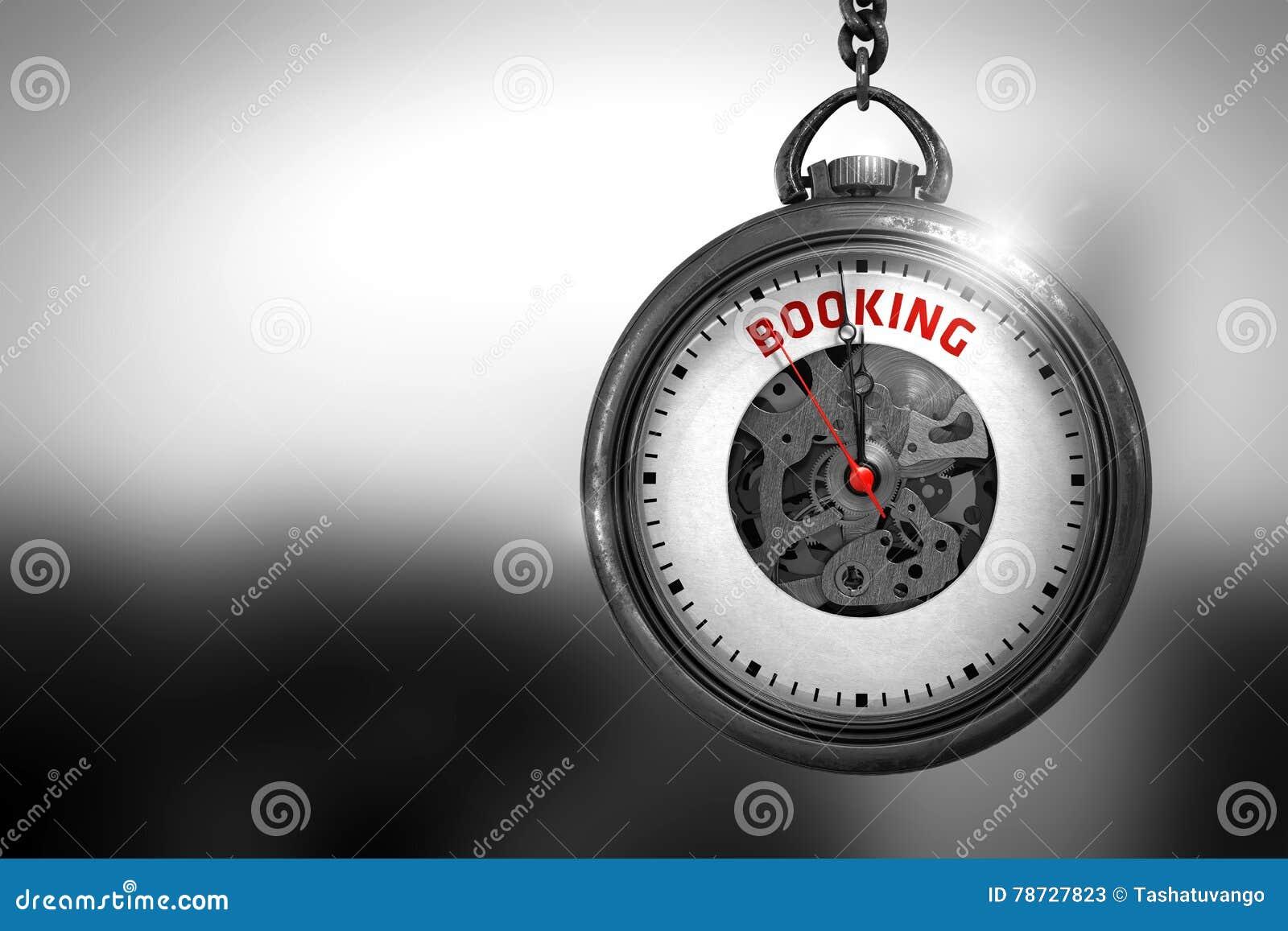 Boka - röd text på klockaframsidan illustration 3d