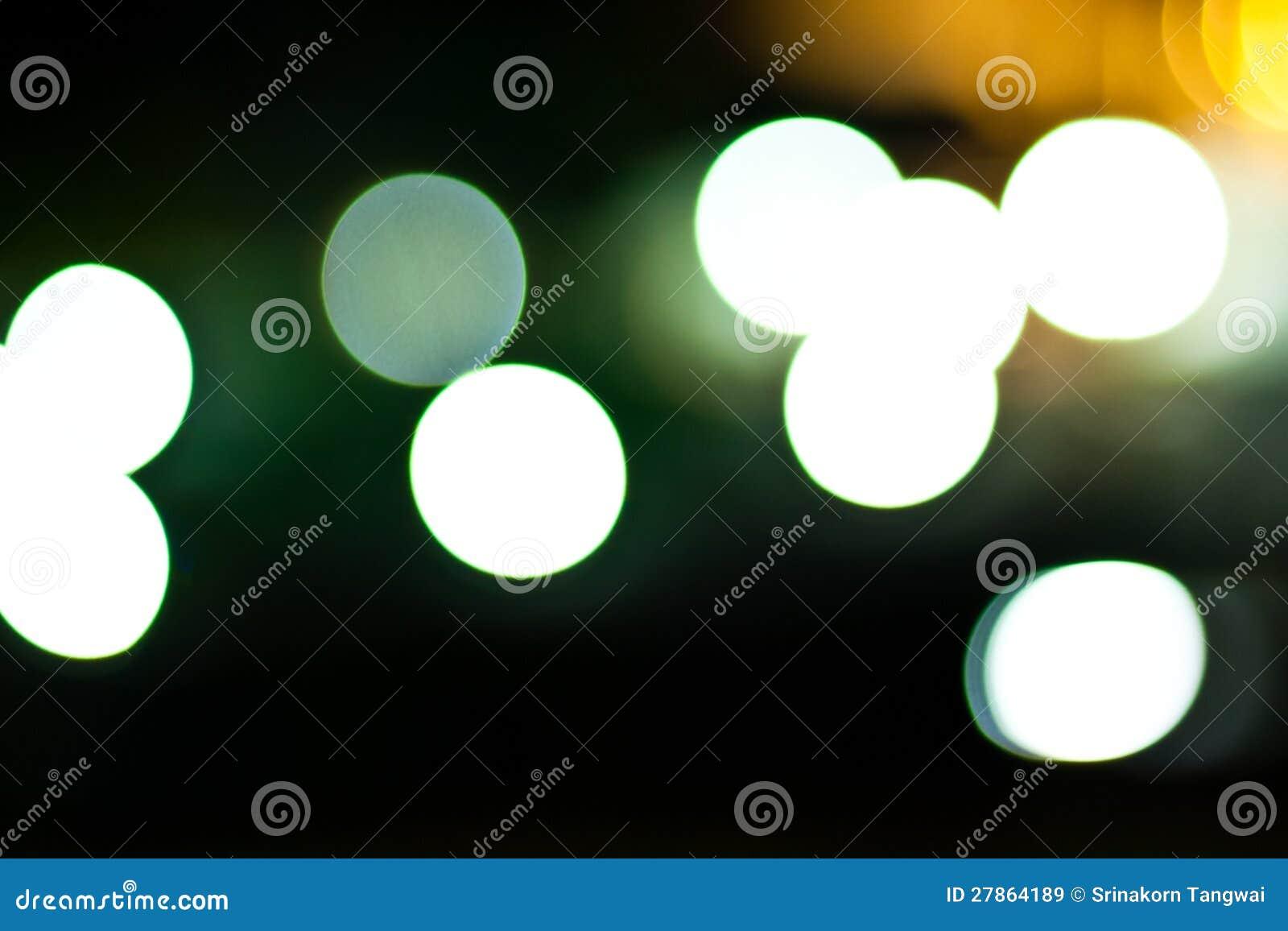 Bokeh światła