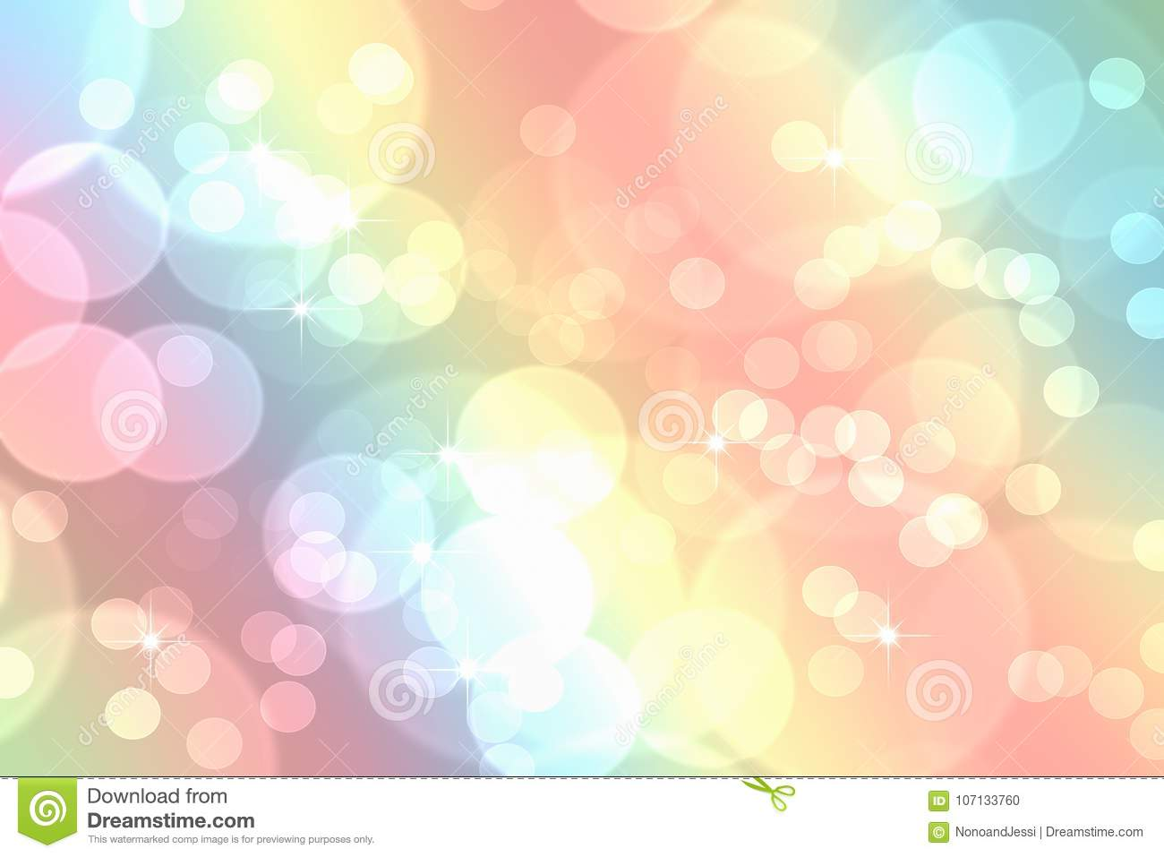 bokeh in abstract rainbow gradient pastel background