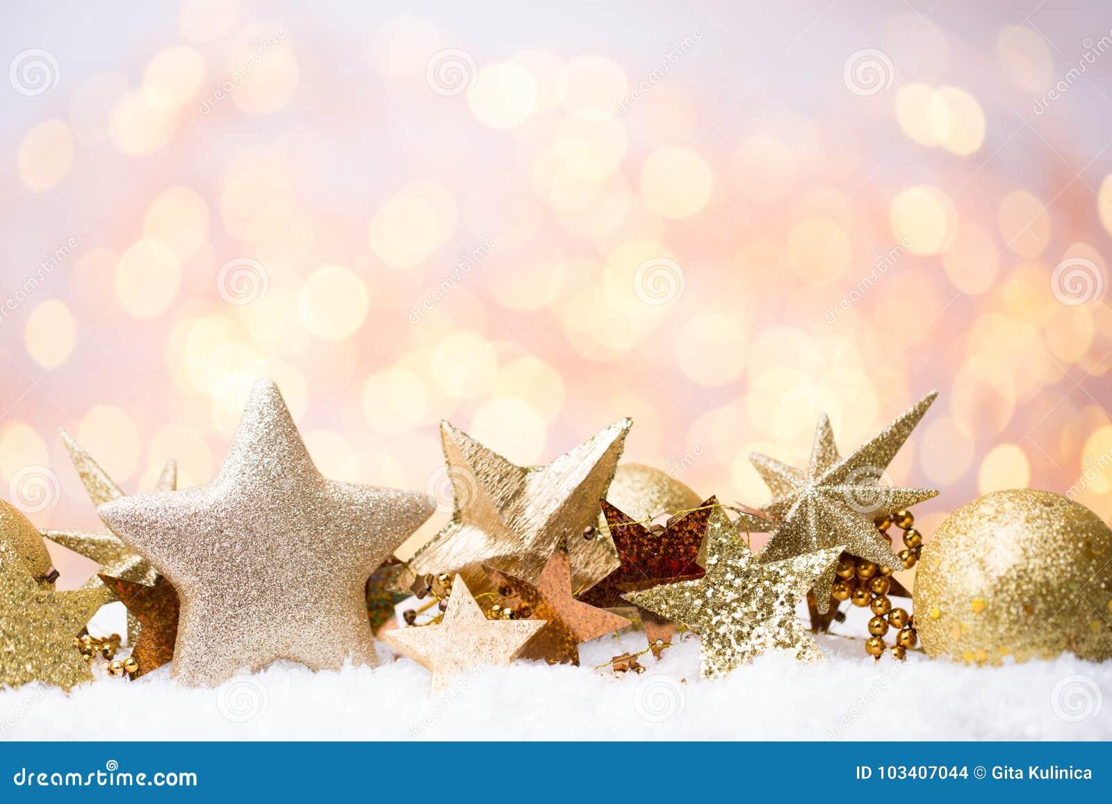 Bokeh astratto dell oro Fondo di tema del nuovo anno e di Natale