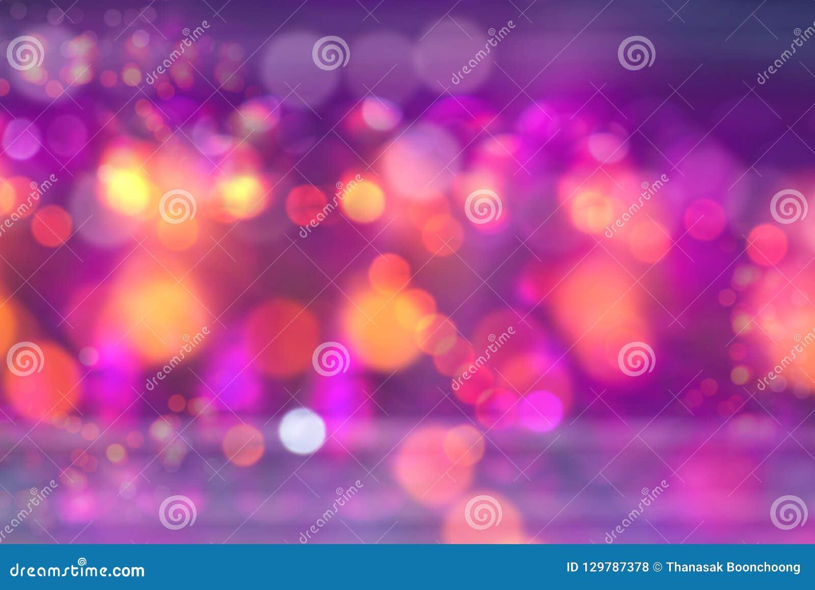 Bokeh av ljus magisk festlig ljusbakgrund