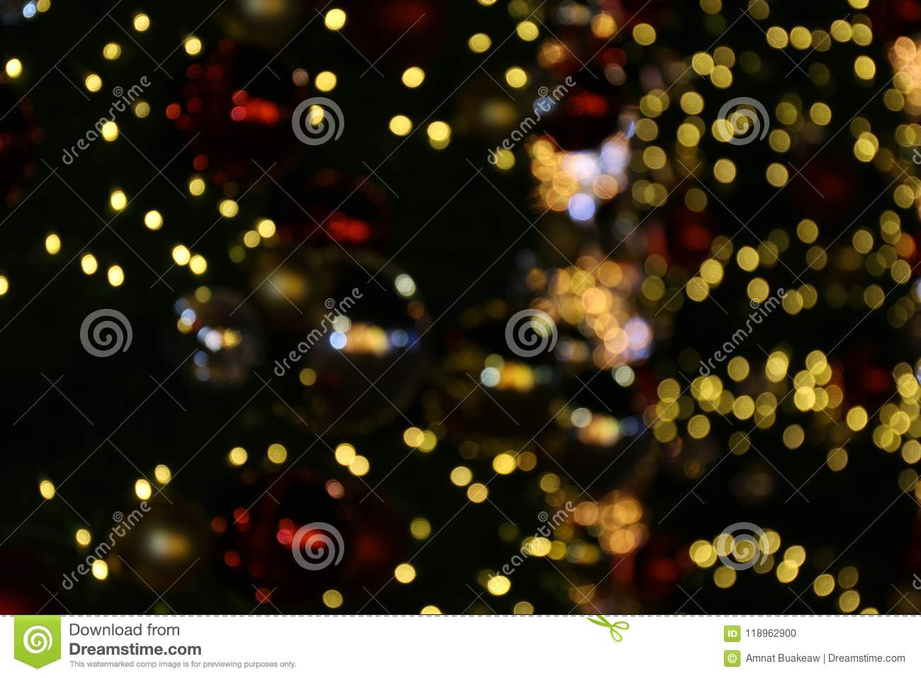 Bokeh Background Colorful Of Merry Christmas, Happy New Year
