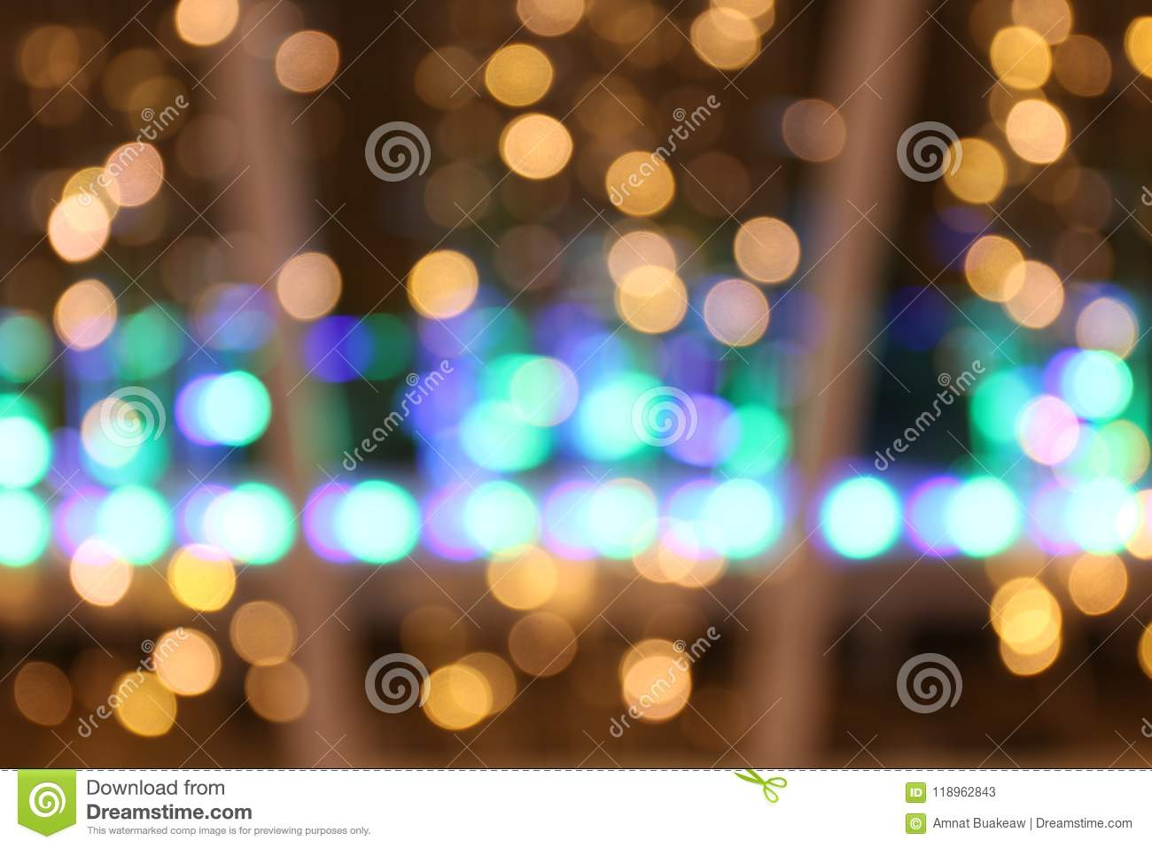 bokeh background gold yellow colorful of merry christmas happy new year bokeh lighting shine on