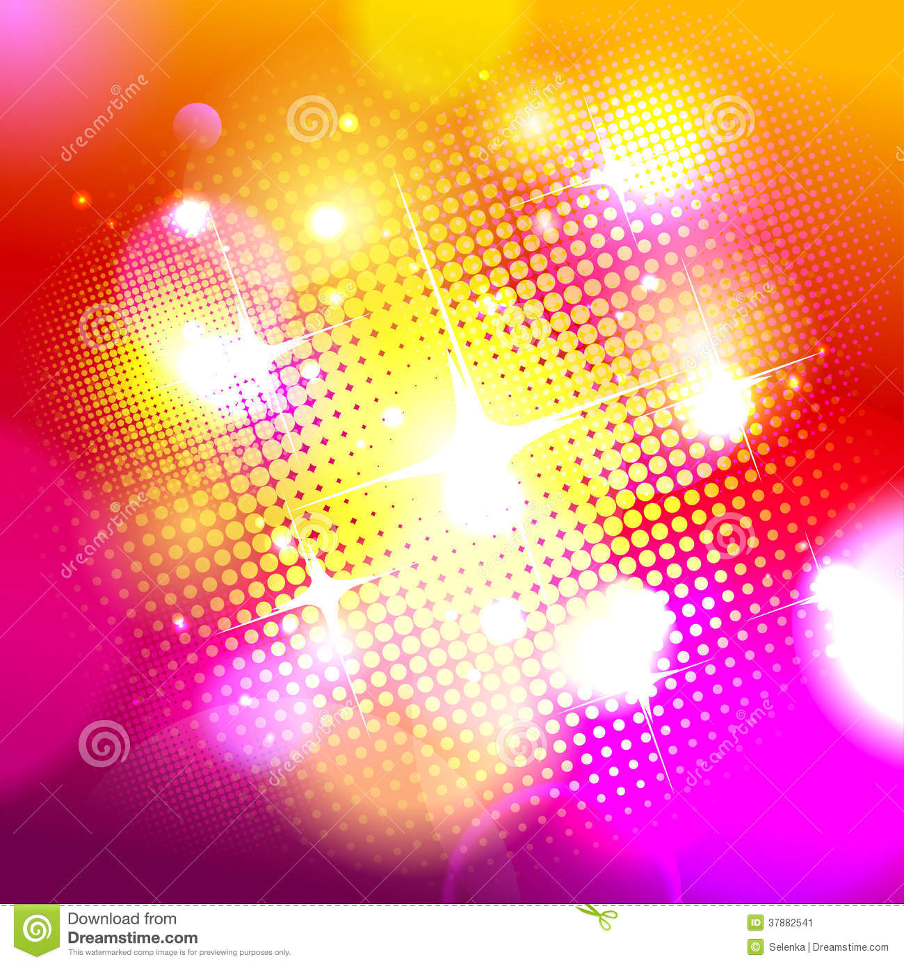 Bokeh Background With Pop art Dots Stock Image Image 37882541