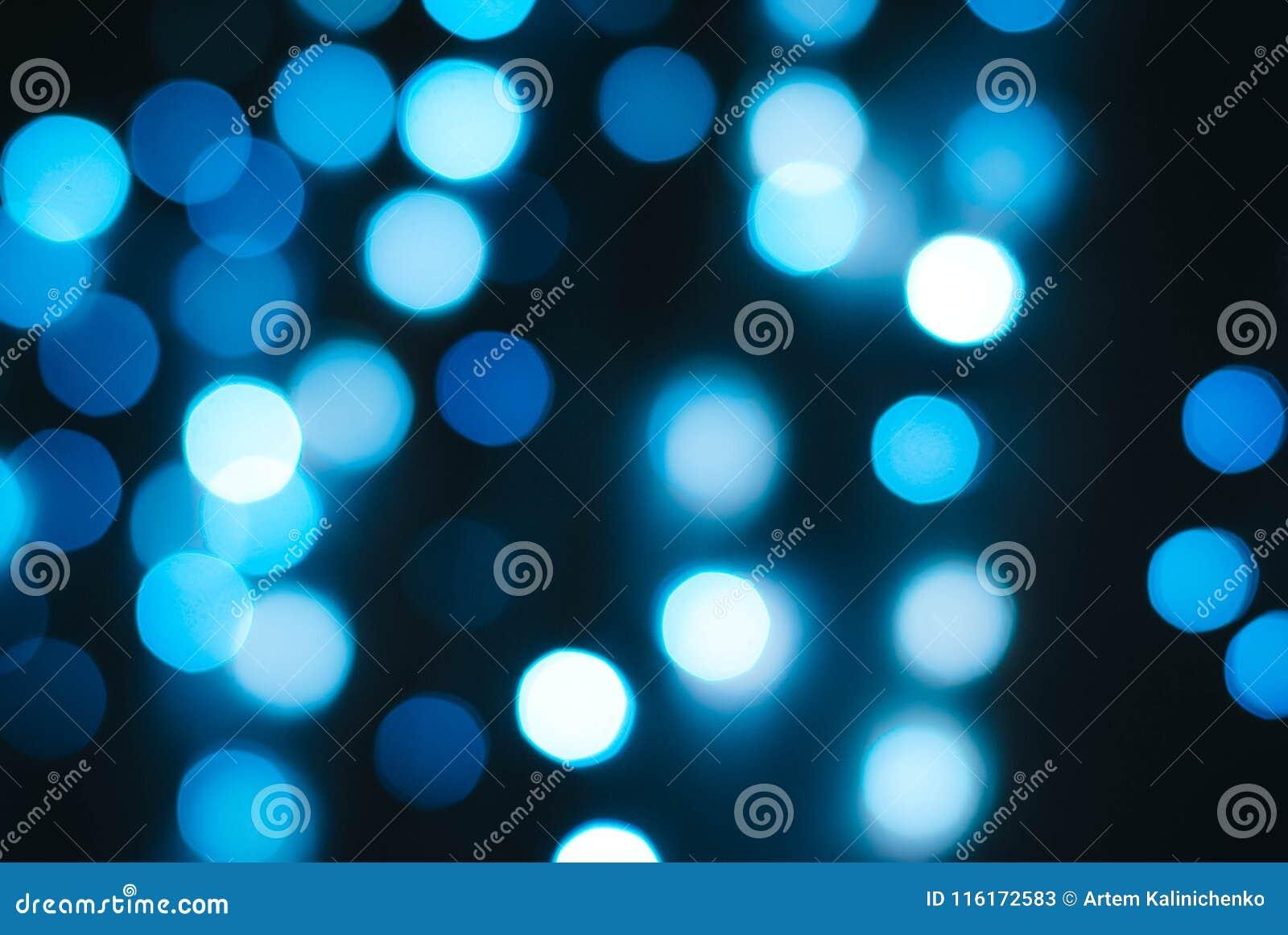 Bokeh brilhante de luzes azuis
